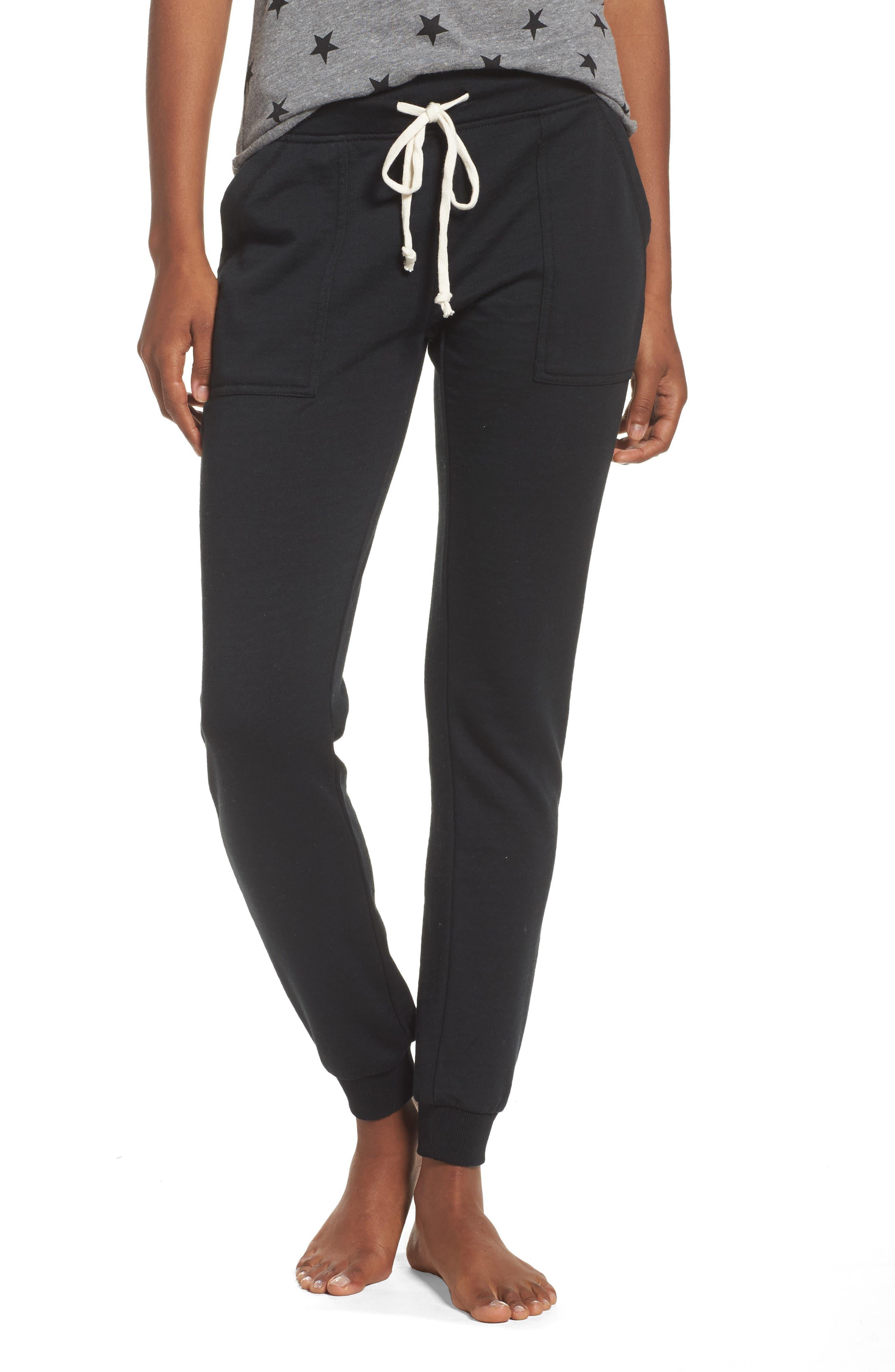 Long Weekend Pants,                         Main,                         color, TRUE BLACK