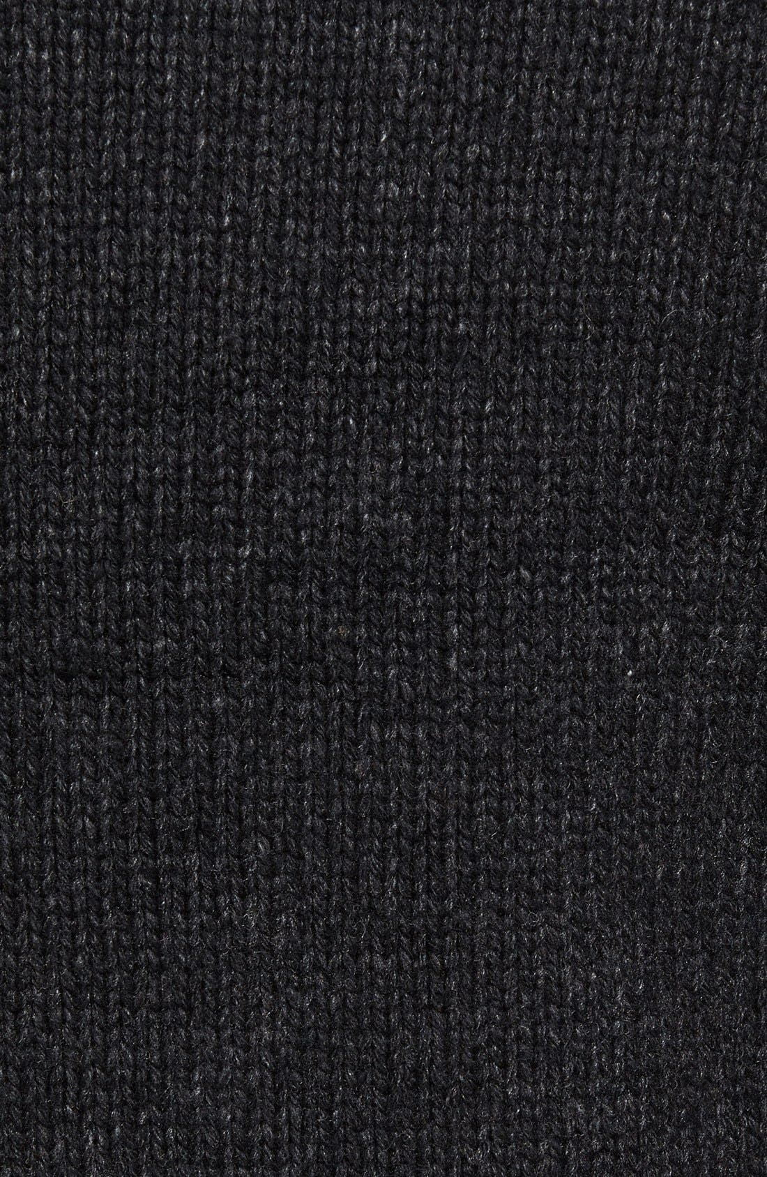 Lined Wool Zip Sweater,                             Alternate thumbnail 9, color,                             BLACK