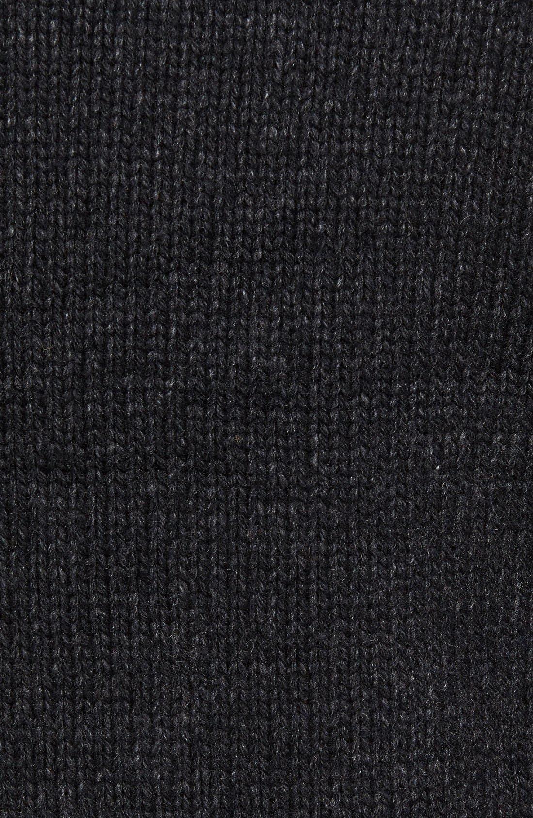 SCHOTT NYC,                             Lined Wool Zip Sweater,                             Alternate thumbnail 8, color,                             BLACK