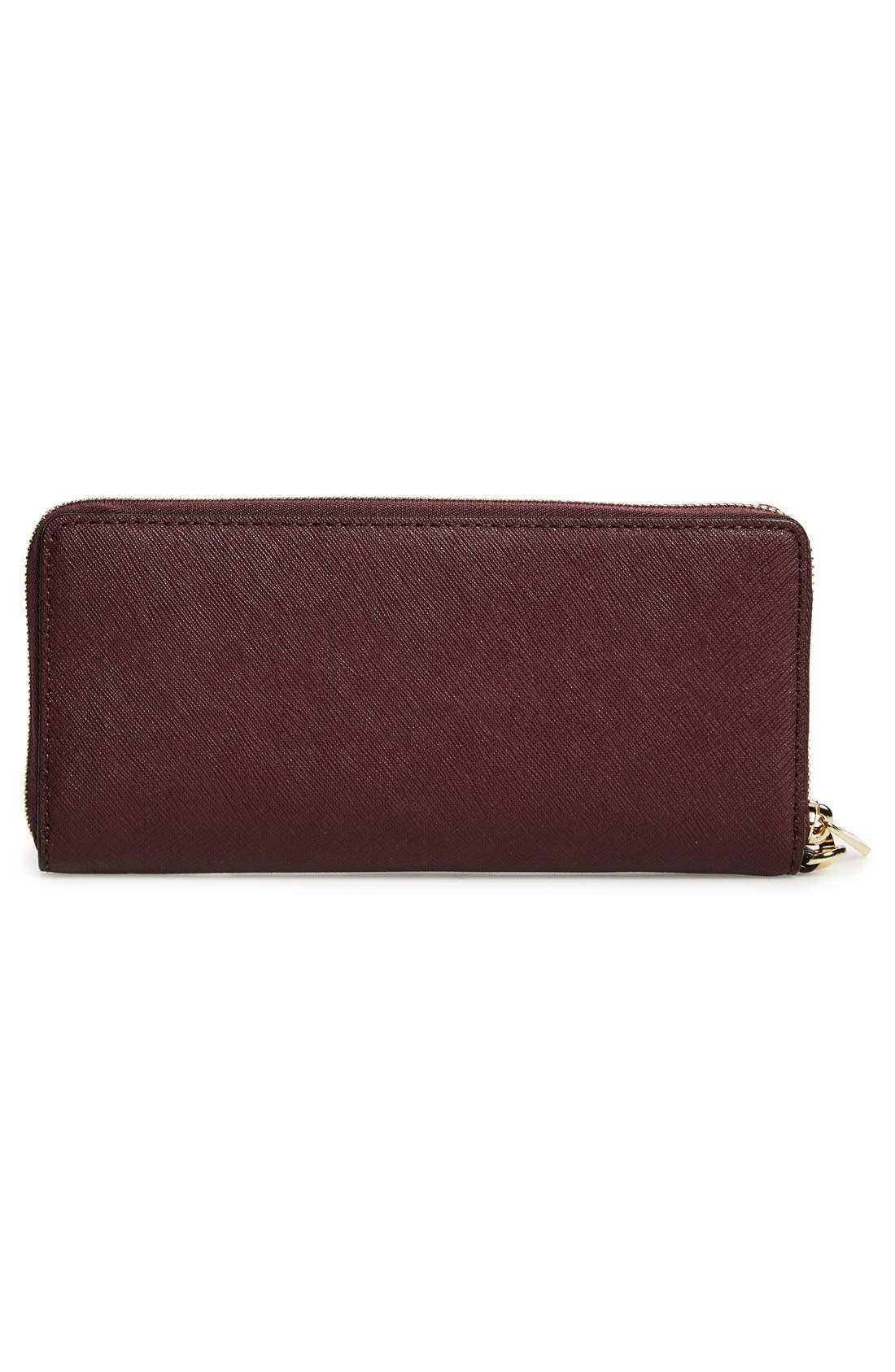 'Jet Set' Leather Travel Wallet,                             Alternate thumbnail 43, color,