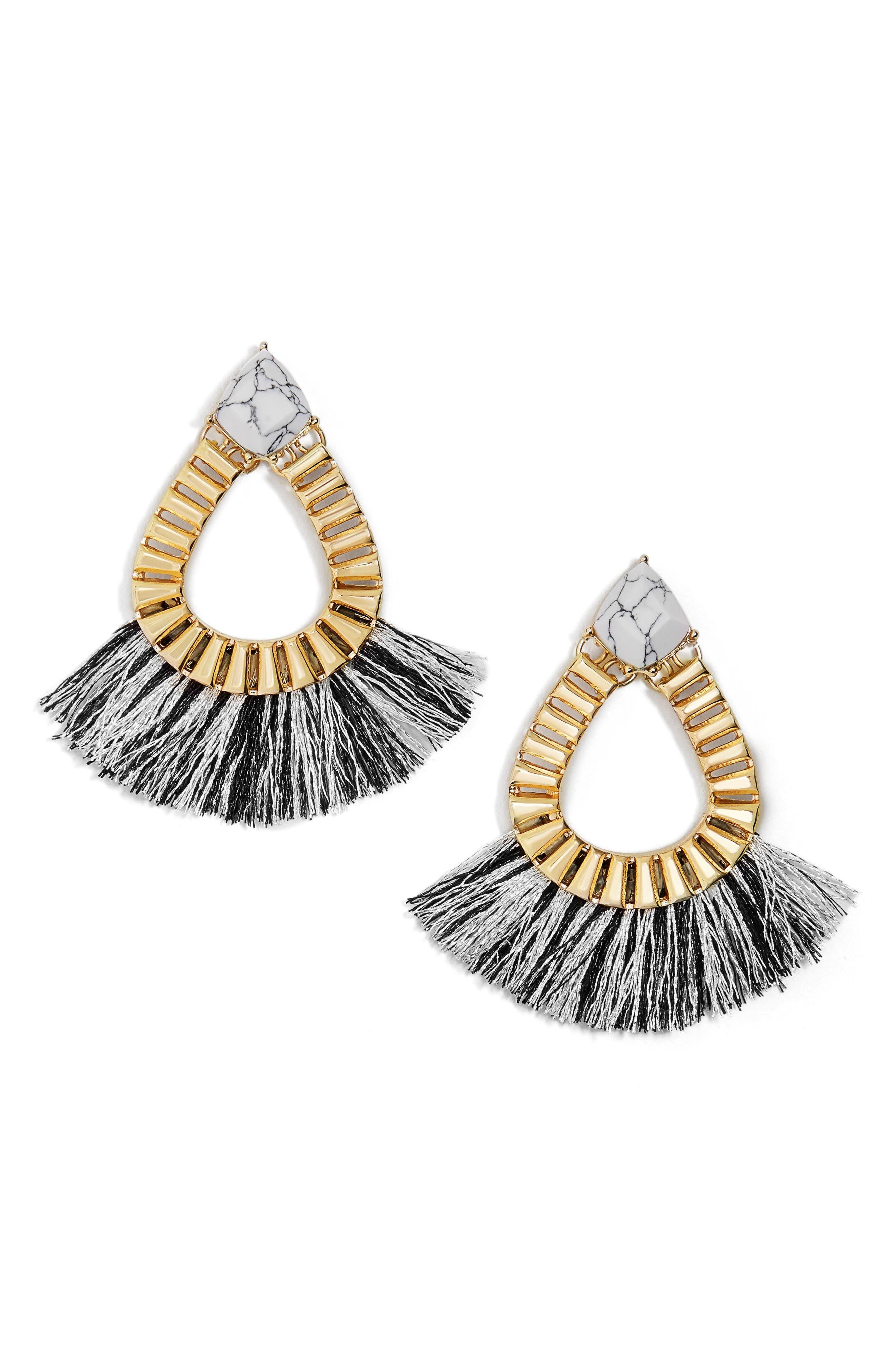 Ashira Fringe Earrings,                             Main thumbnail 1, color,                             001