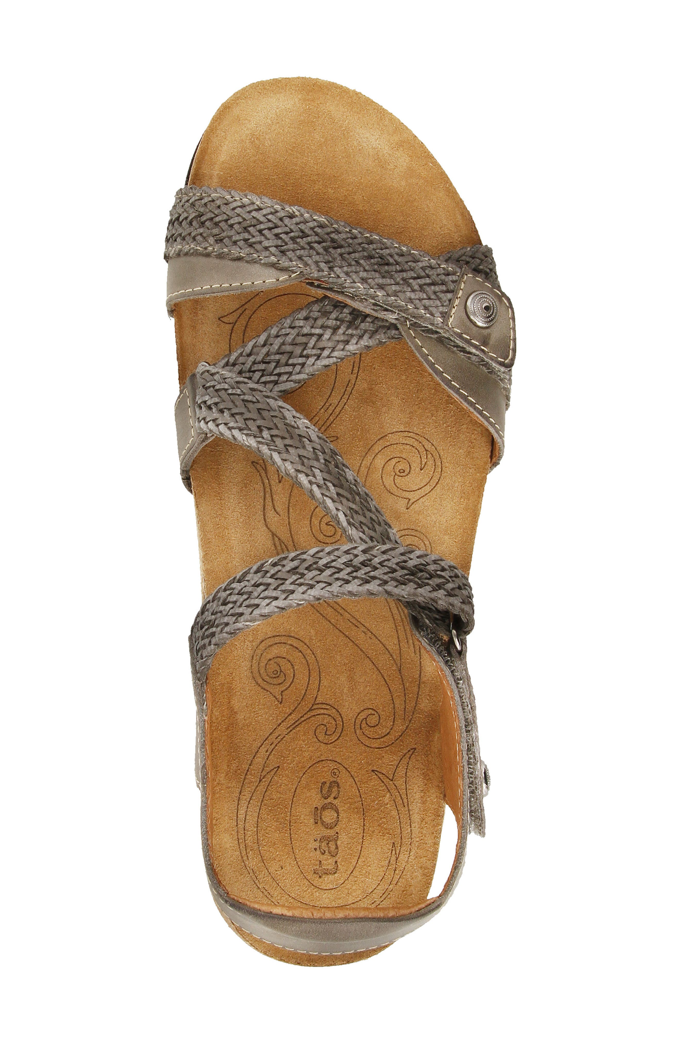 TAOS,                             'Trulie' Wedge Sandal,                             Alternate thumbnail 4, color,                             022