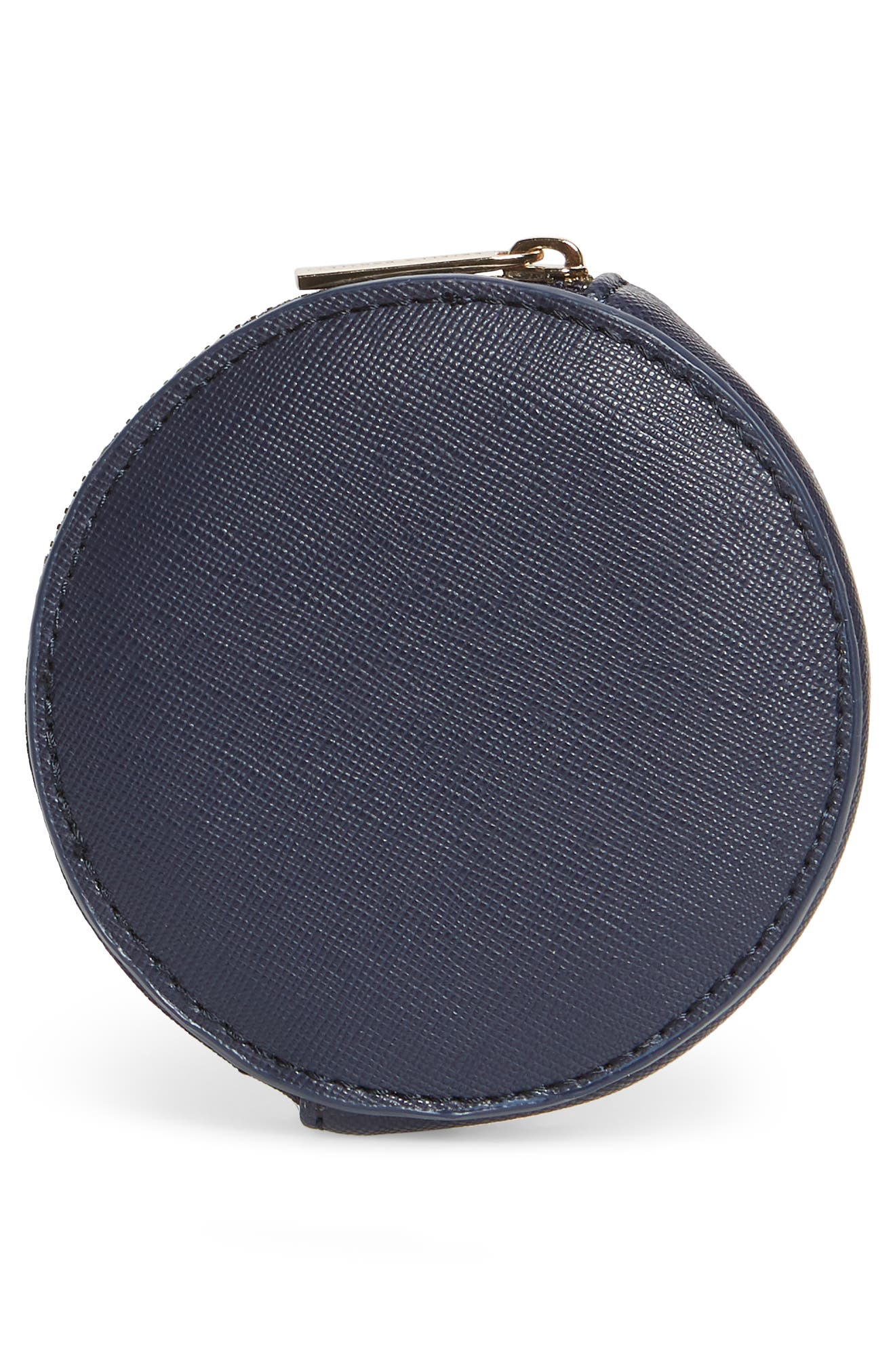 Circle Coin Pouch,                             Alternate thumbnail 4, color,                             NAVY - MAKE IT HAPPEN