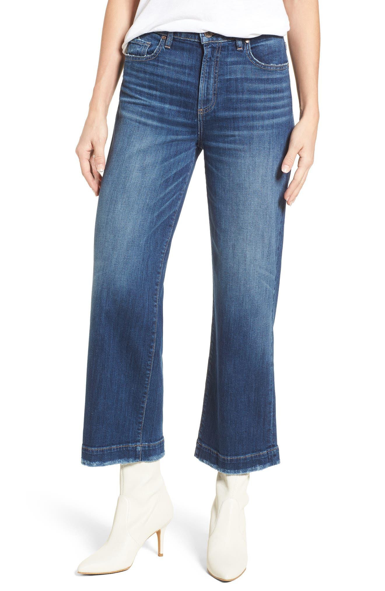 Nellie High Waist Culotte Jeans,                         Main,                         color, 400