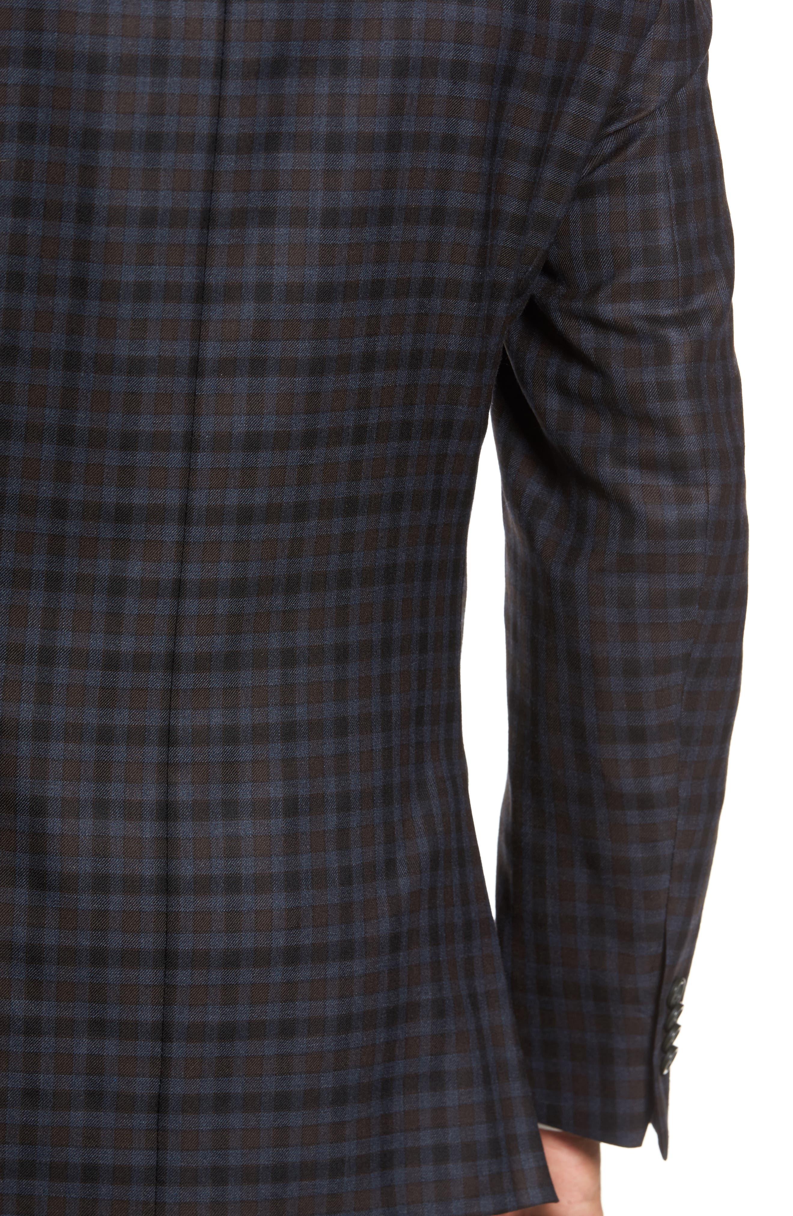 Classic Fit Plaid Wool Sport Coat,                             Alternate thumbnail 6, color,                             410