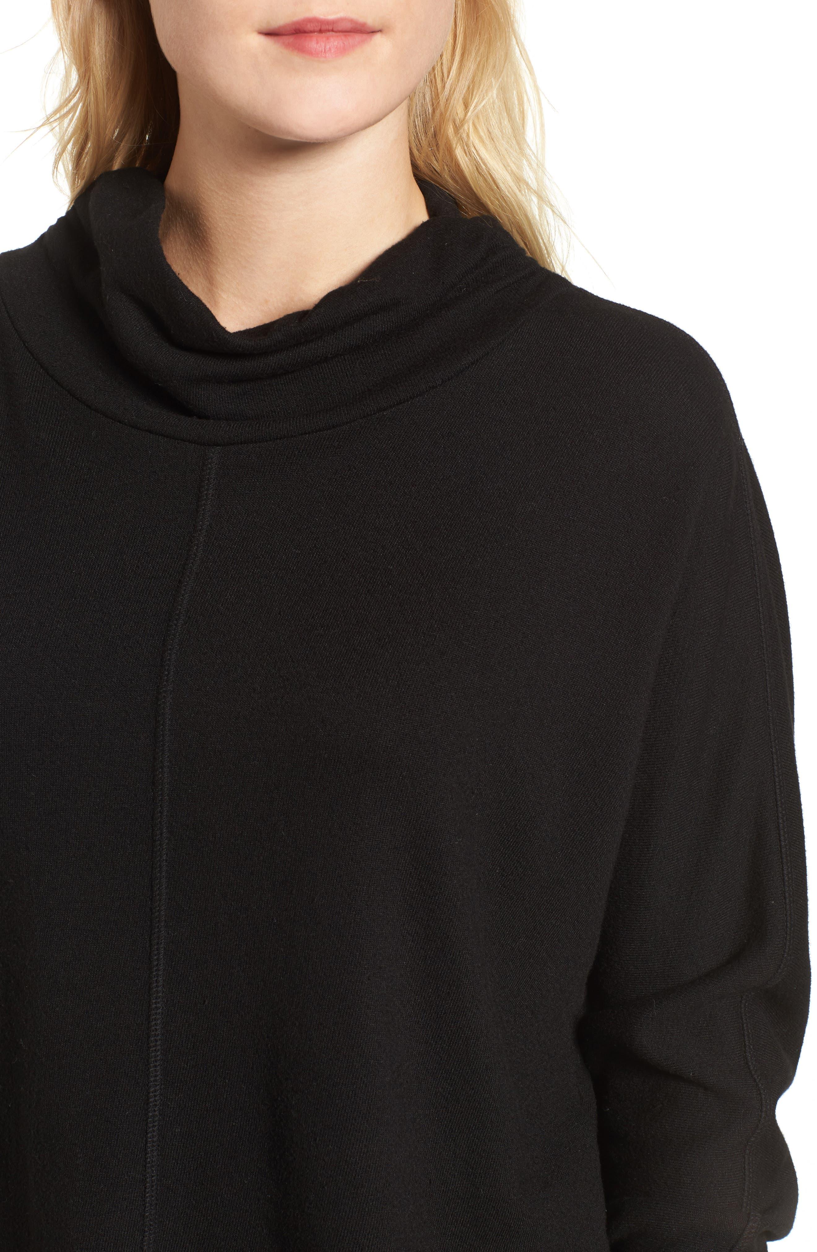 Helix Turtleneck Sweatshirt,                             Alternate thumbnail 4, color,                             001