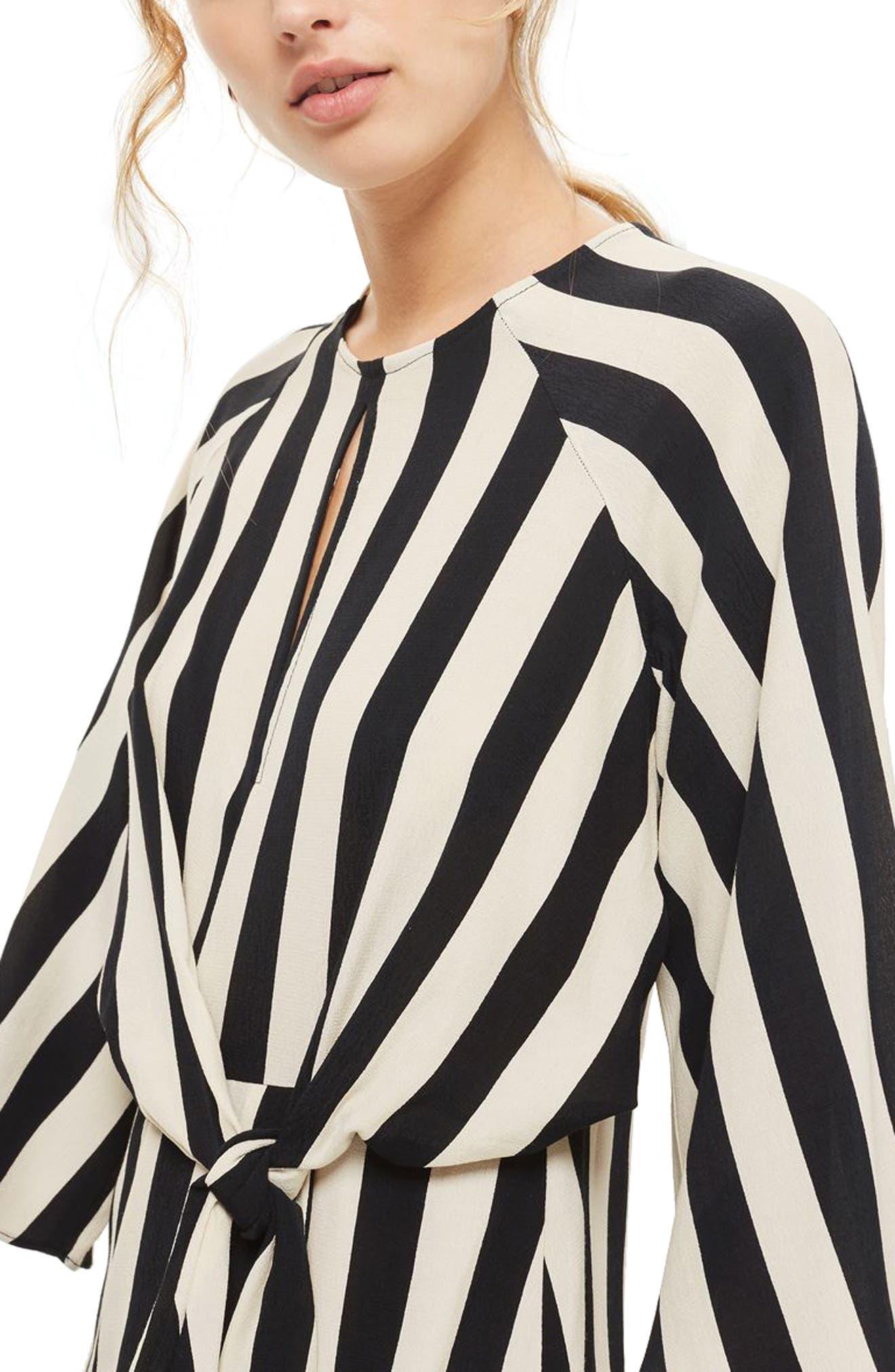 Humbug Stripe Knot Dress,                             Alternate thumbnail 2, color,                             001
