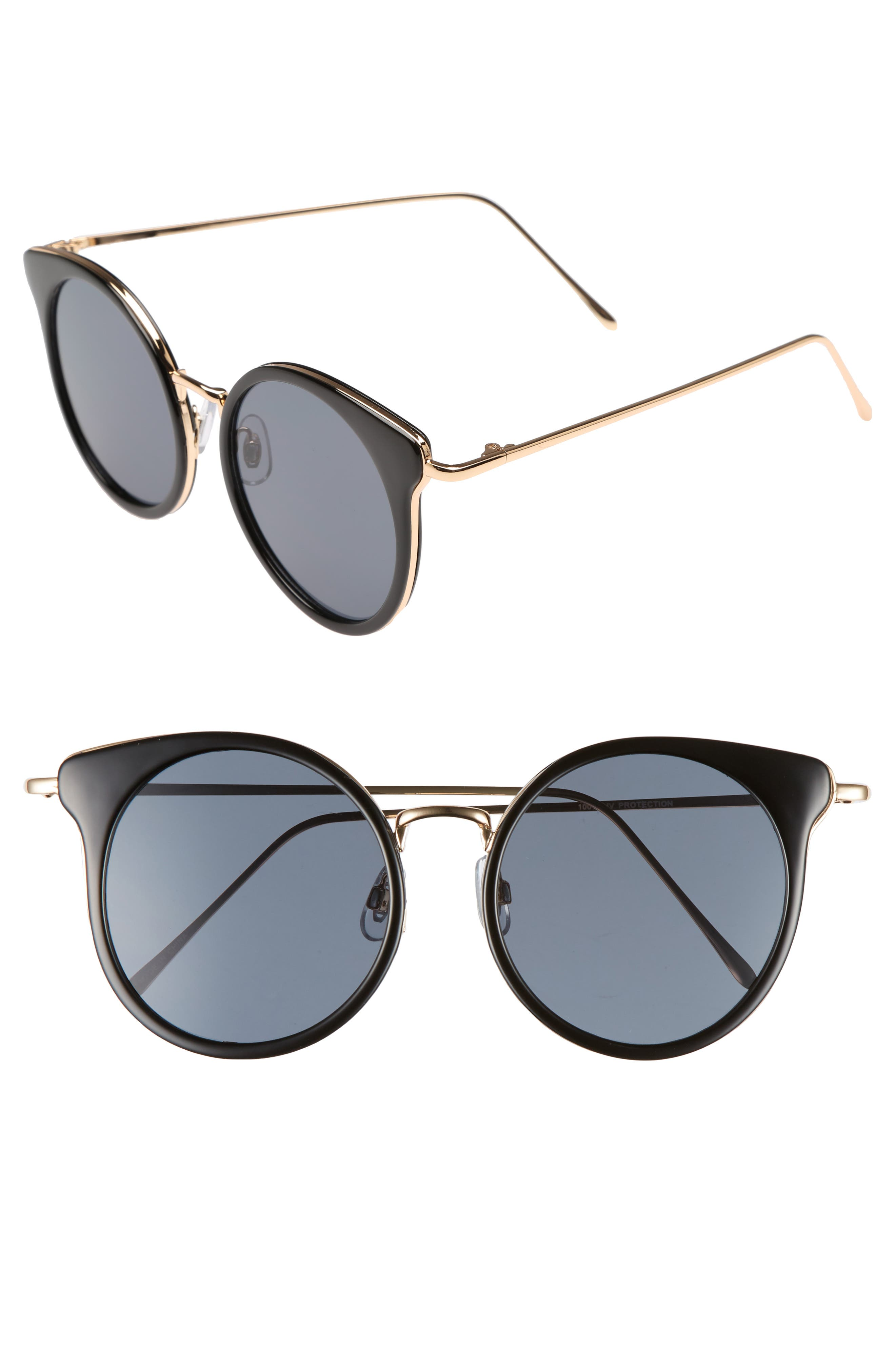 Round Wing Sunglasses,                             Main thumbnail 1, color,                             710