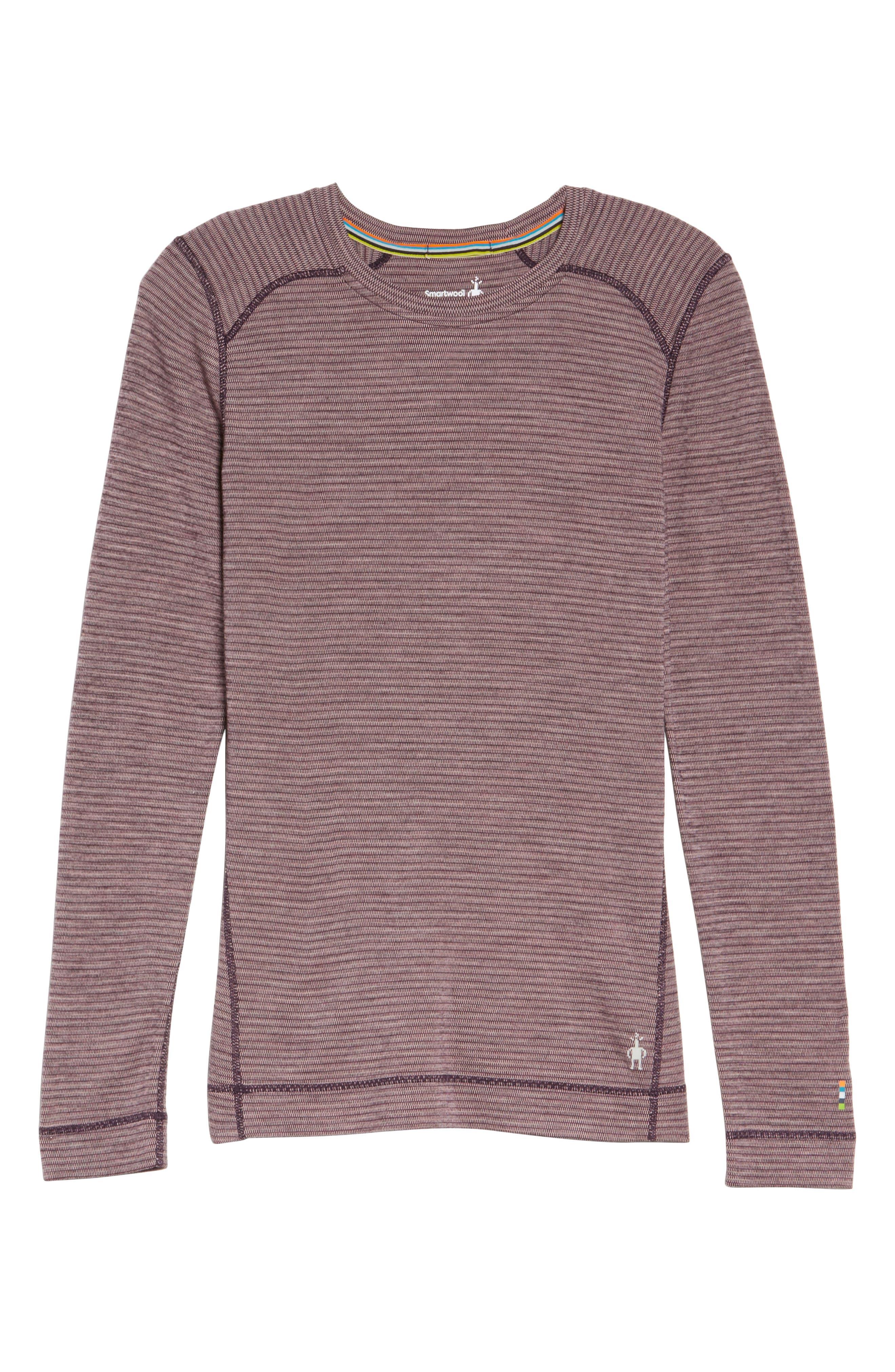 Merino Wool 250 Base Layer Top,                             Alternate thumbnail 7, color,                             BORDEAUX