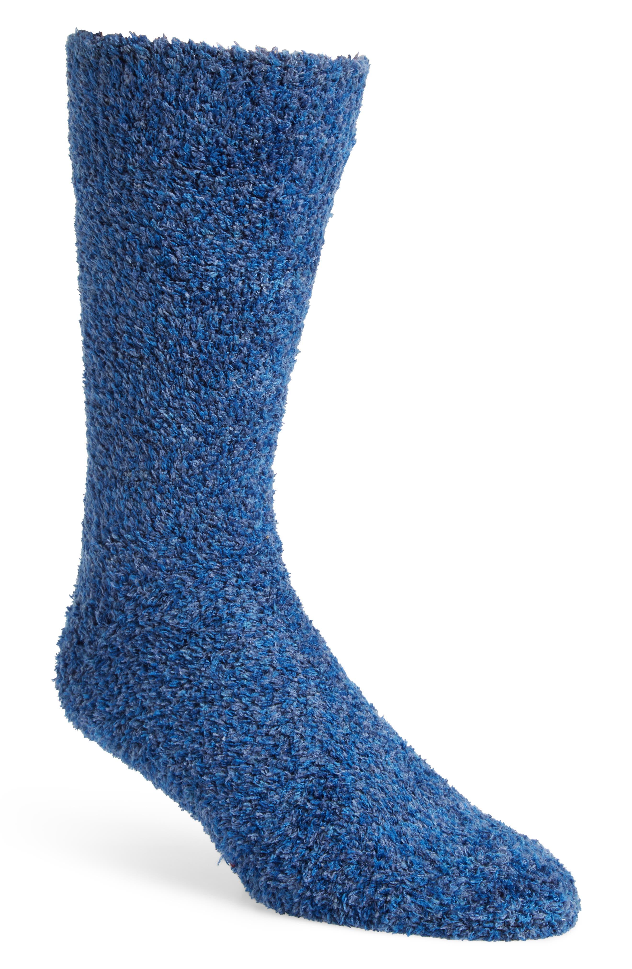 Marled Butter Socks,                         Main,                         color, NAVY/ BLUE