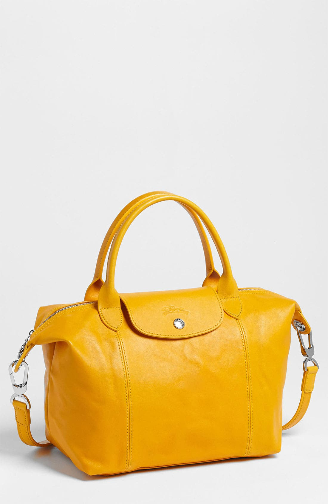 Small 'Le Pliage Cuir' Leather Top Handle Tote,                             Main thumbnail 25, color,