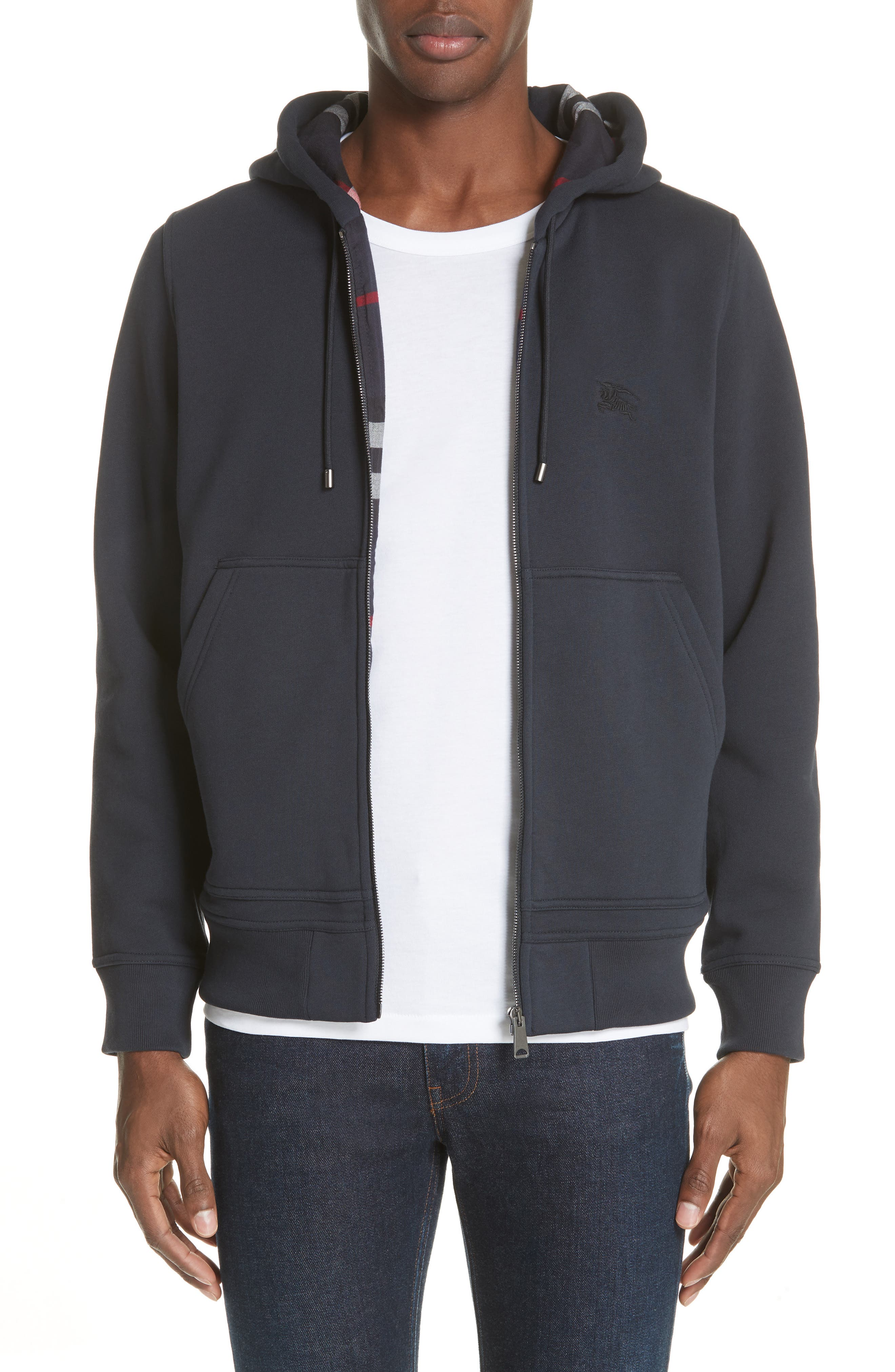 Zip Hoodie,                         Main,                         color, NAVY