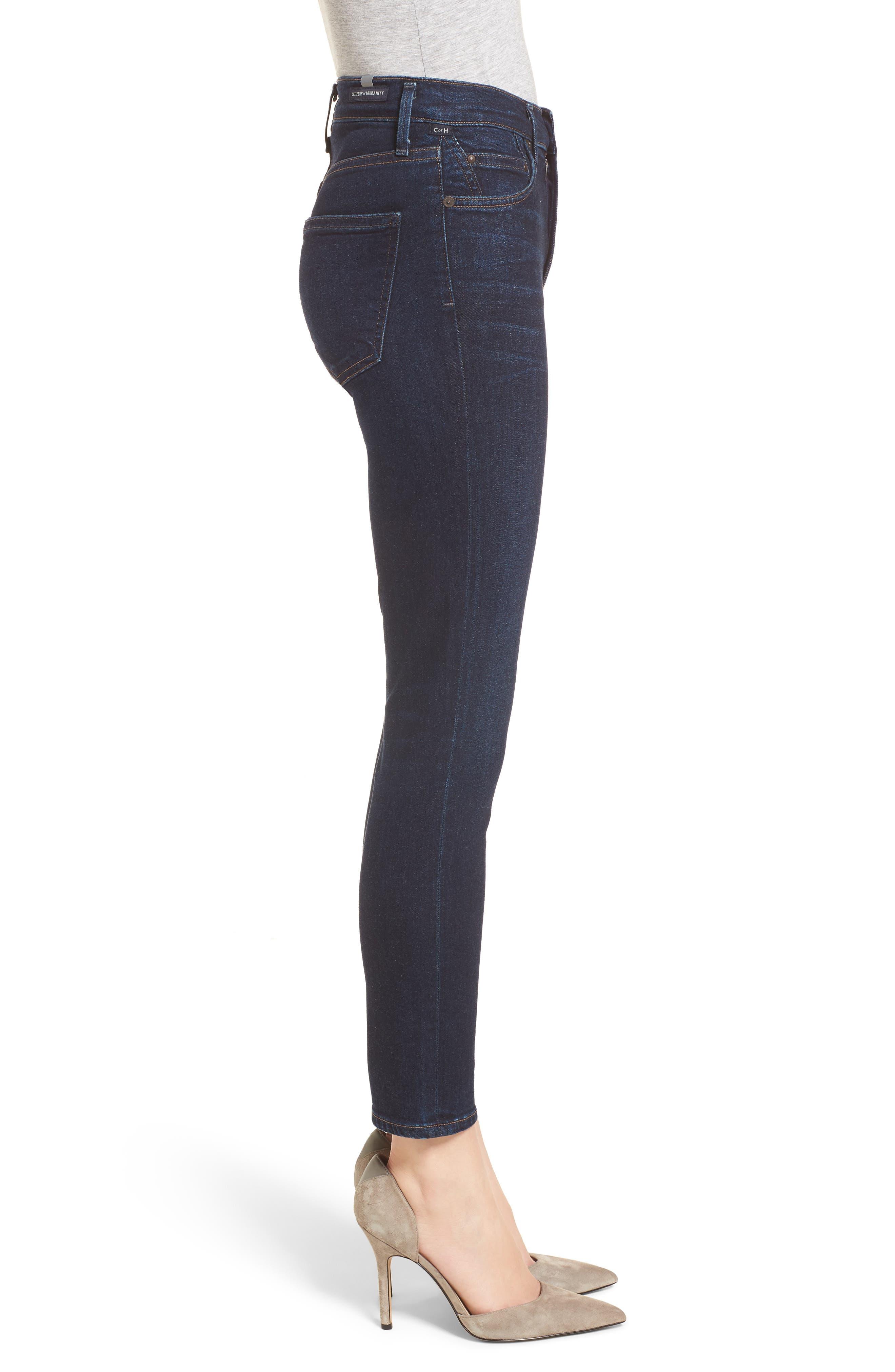 Rocket High Waist Crop Skinny Jeans,                             Alternate thumbnail 3, color,                             484
