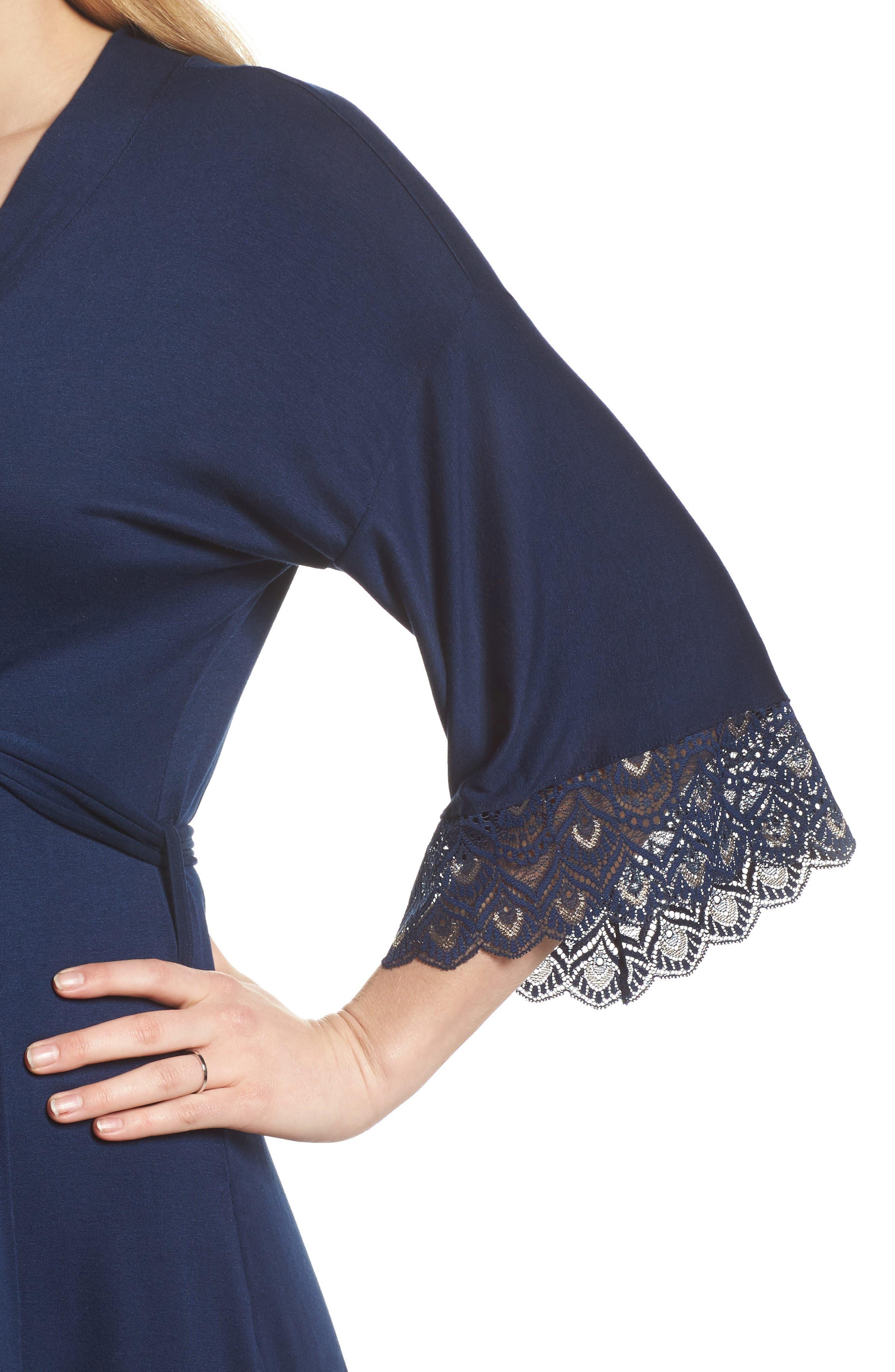 'Tallulah' Maternity Jersey Robe,                             Alternate thumbnail 5, color,