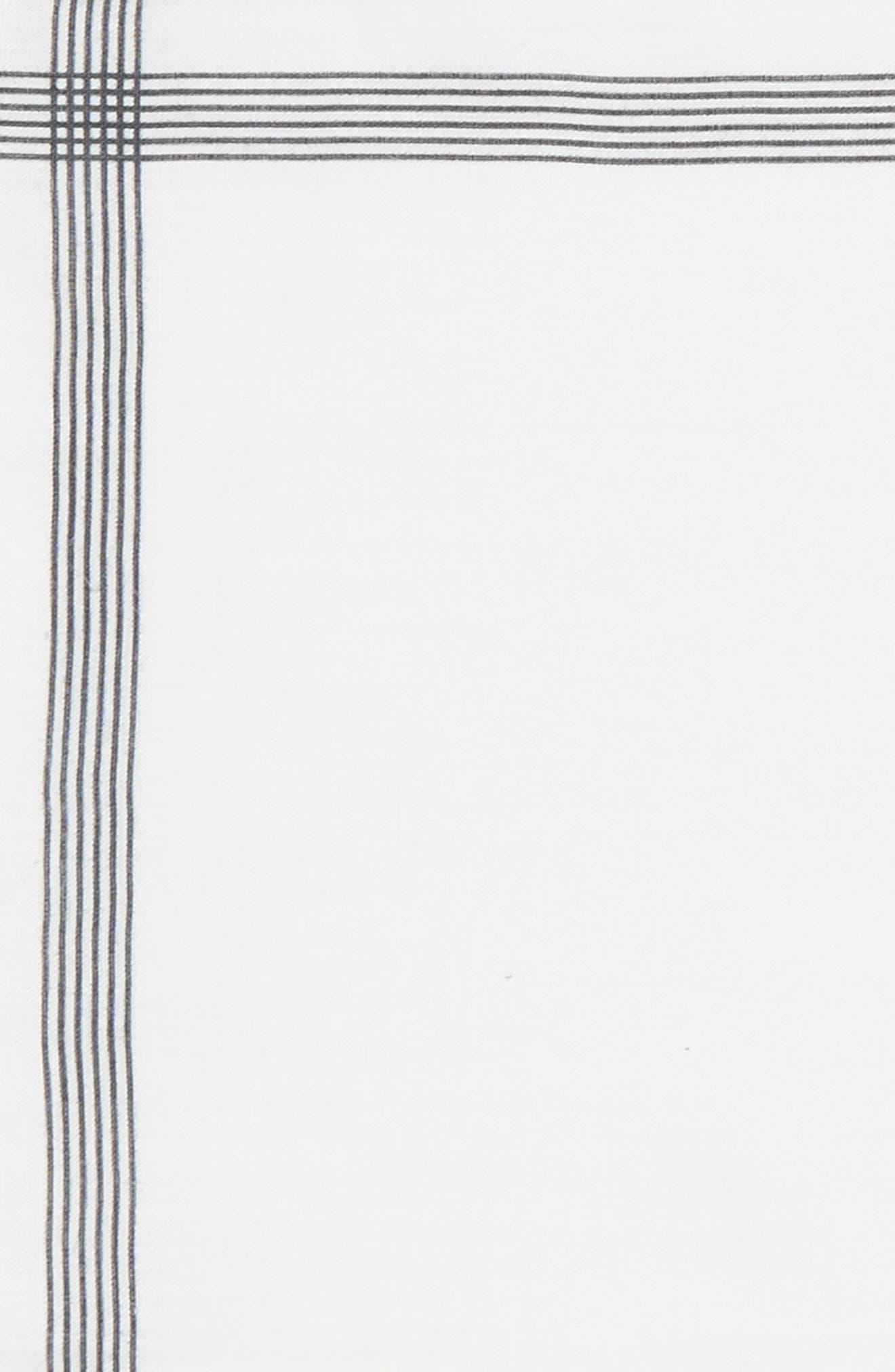 Old Town Border Linen Pocket Square,                             Alternate thumbnail 3, color,                             001