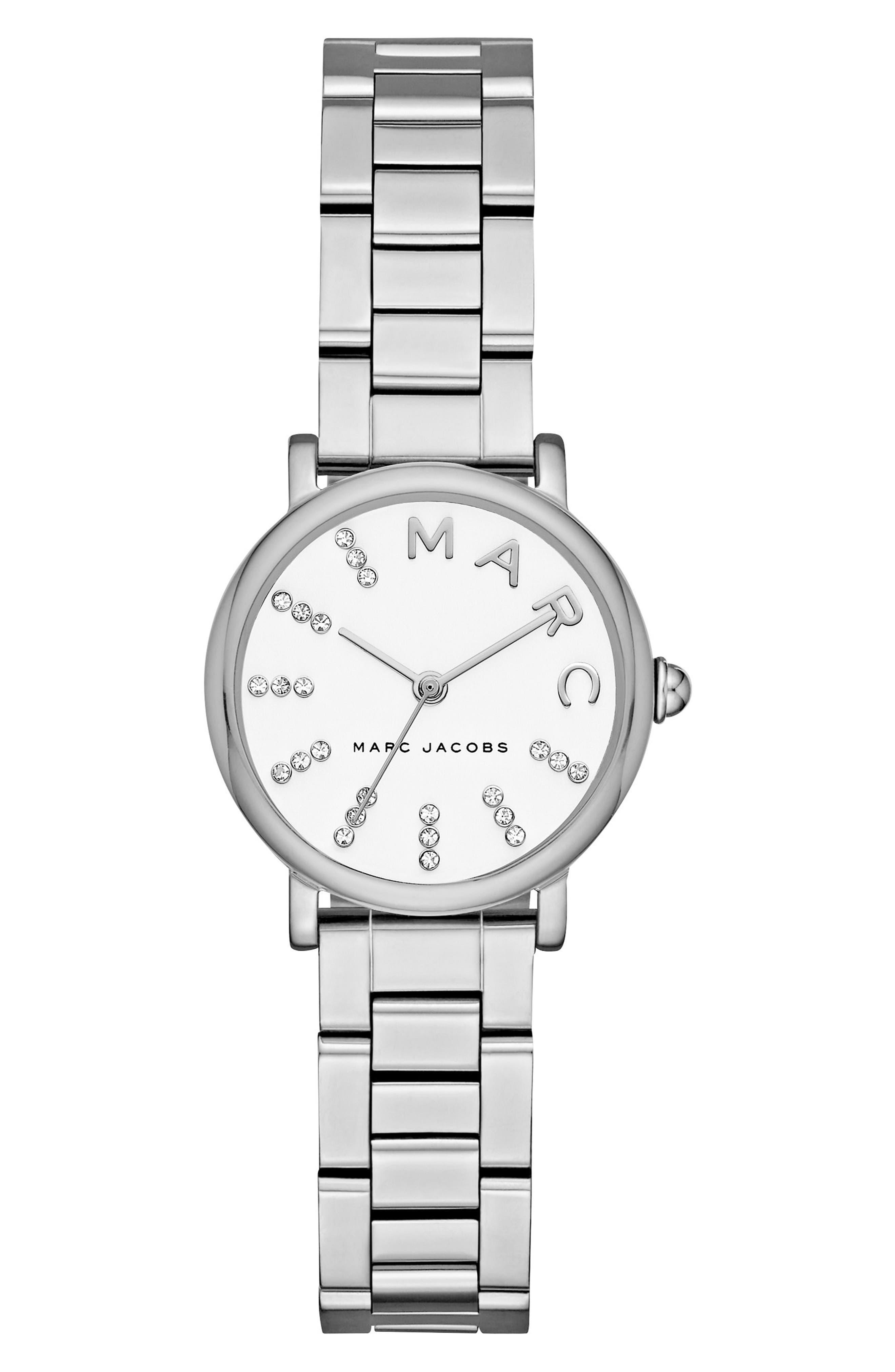 Roxy Crystal Bracelet Watch, 28mm,                             Main thumbnail 1, color,                             040