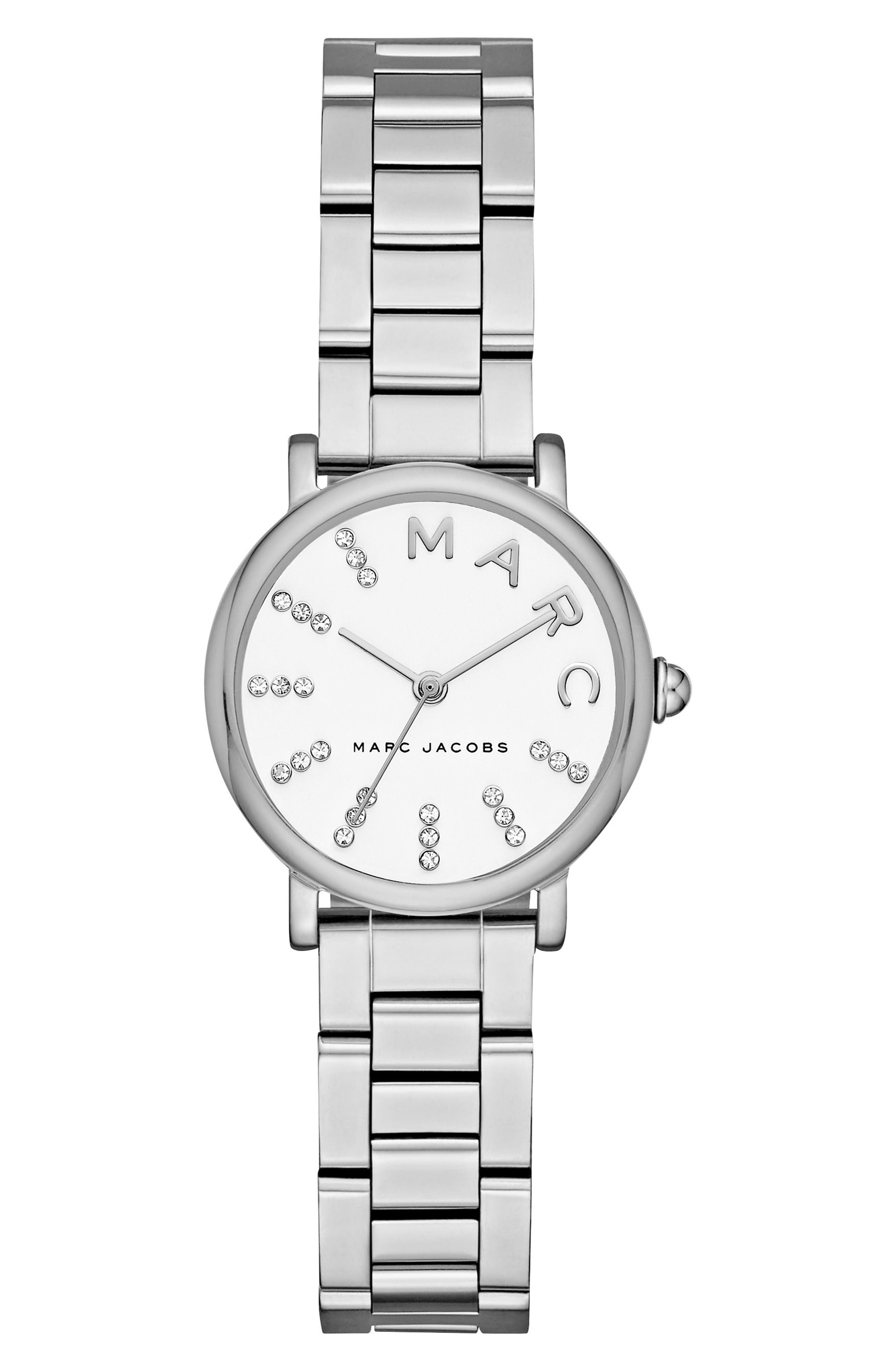 Roxy Crystal Bracelet Watch, 28mm,                         Main,                         color, 040