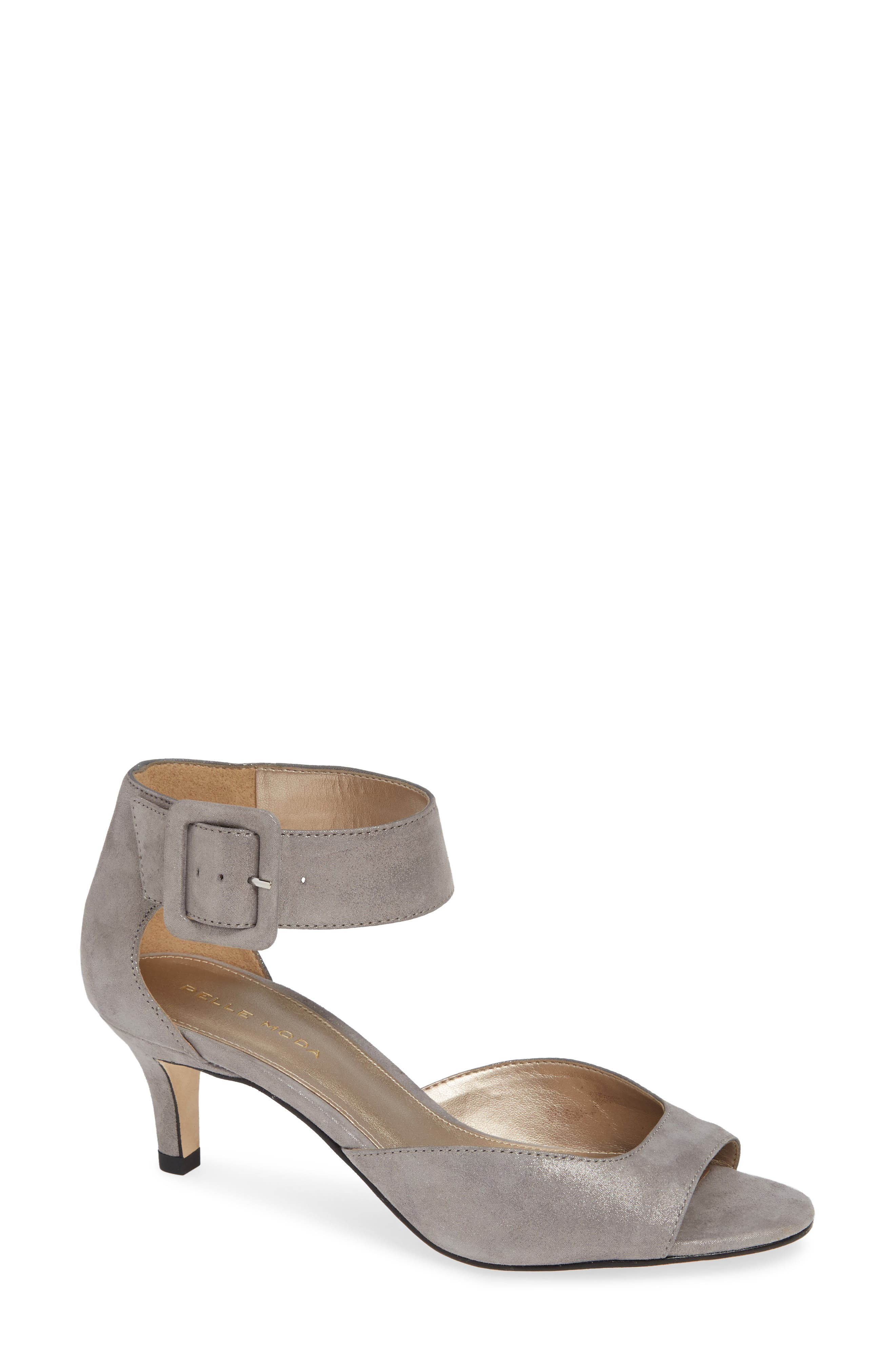 'Berlin' Sandal,                         Main,                         color, PEWTER SUEDE