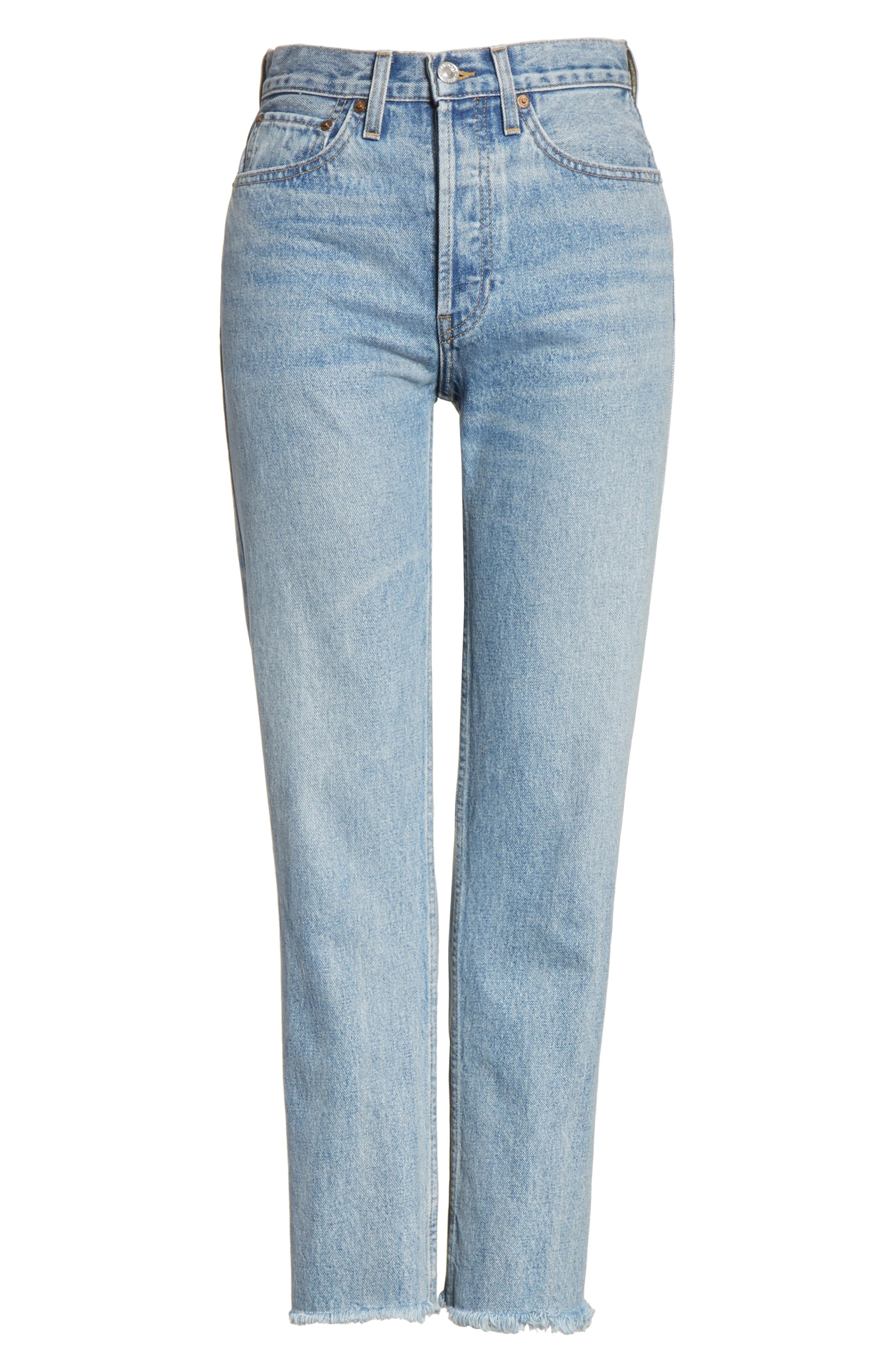 RE/DONE,                             High Waist Stove Pipe Jeans,                             Alternate thumbnail 6, color,                             450