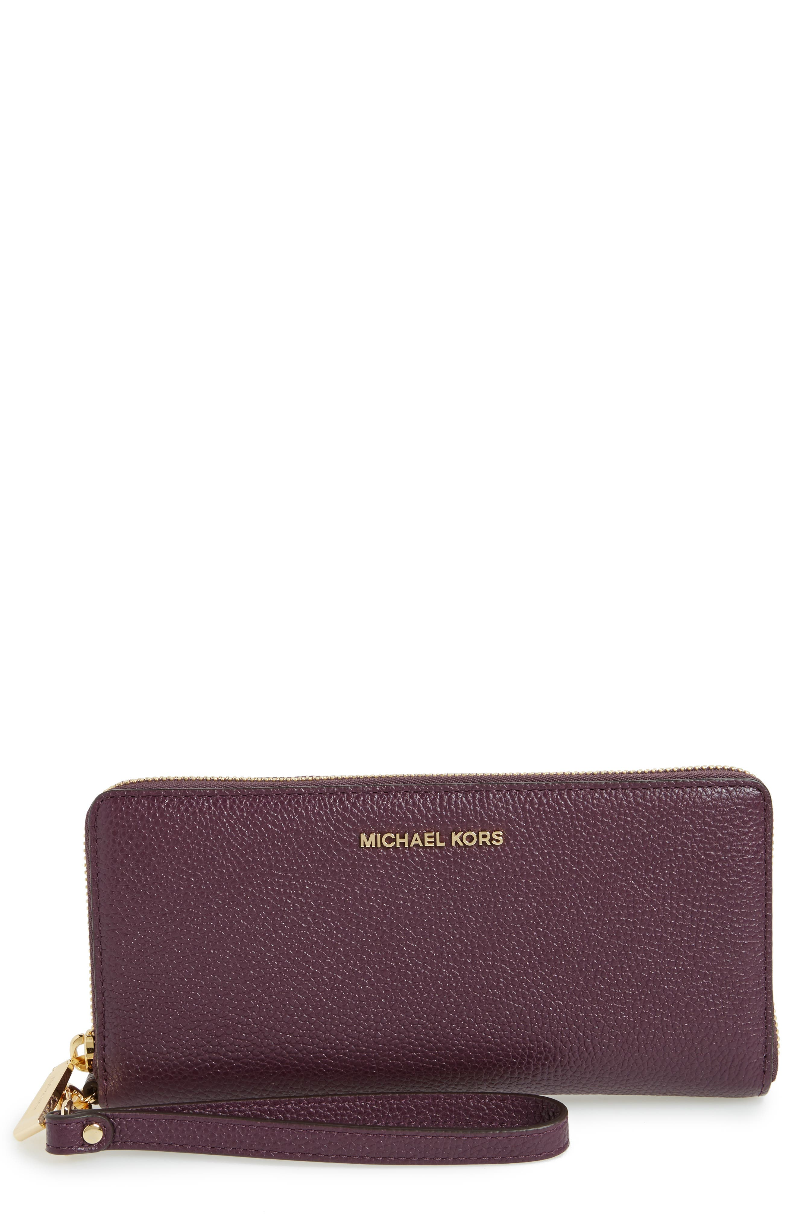 'Mercer' Leather Continental Wallet,                             Main thumbnail 1, color,                             599