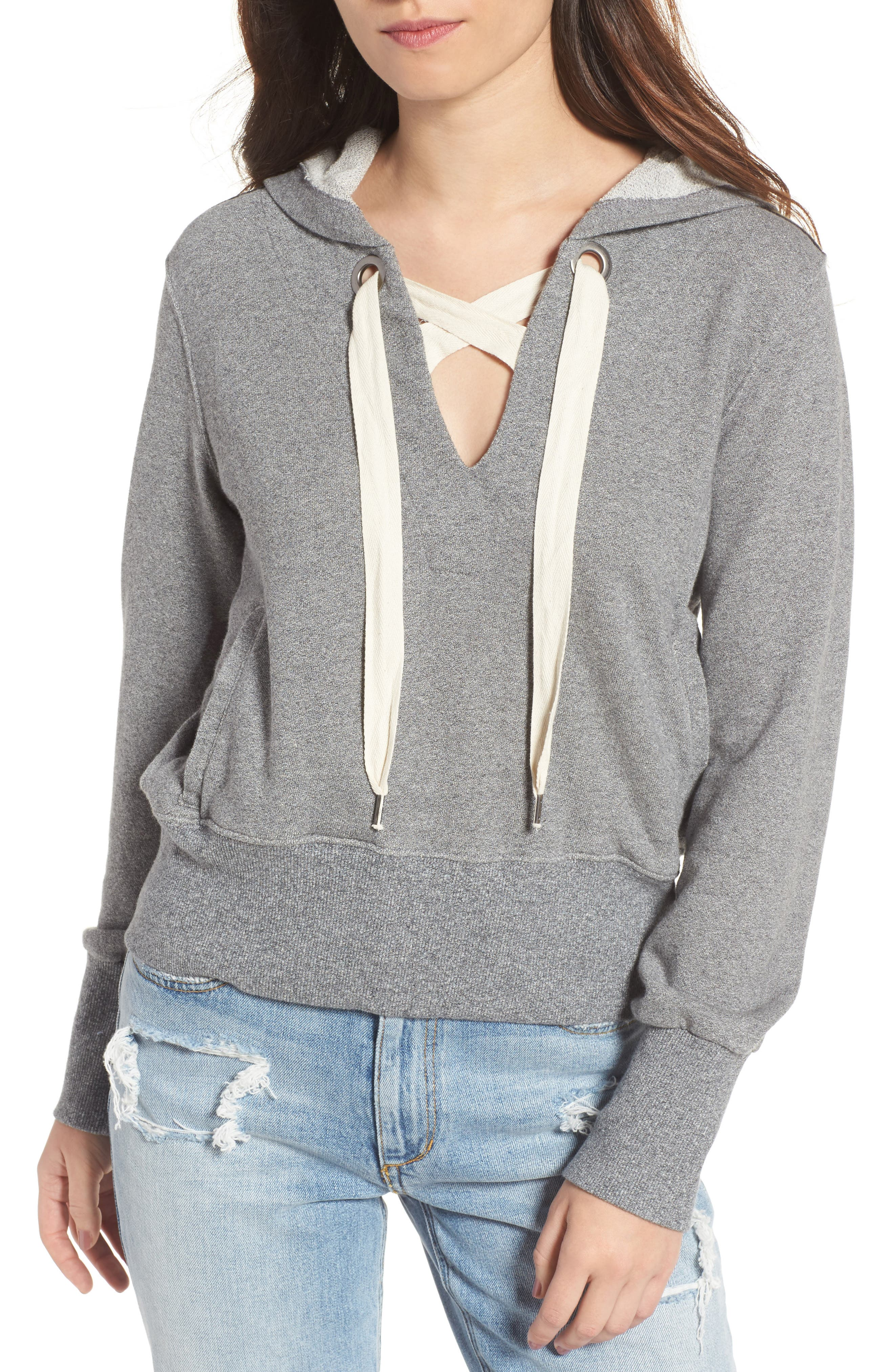Warwick Lace-Up Hoodie,                             Main thumbnail 1, color,                             039
