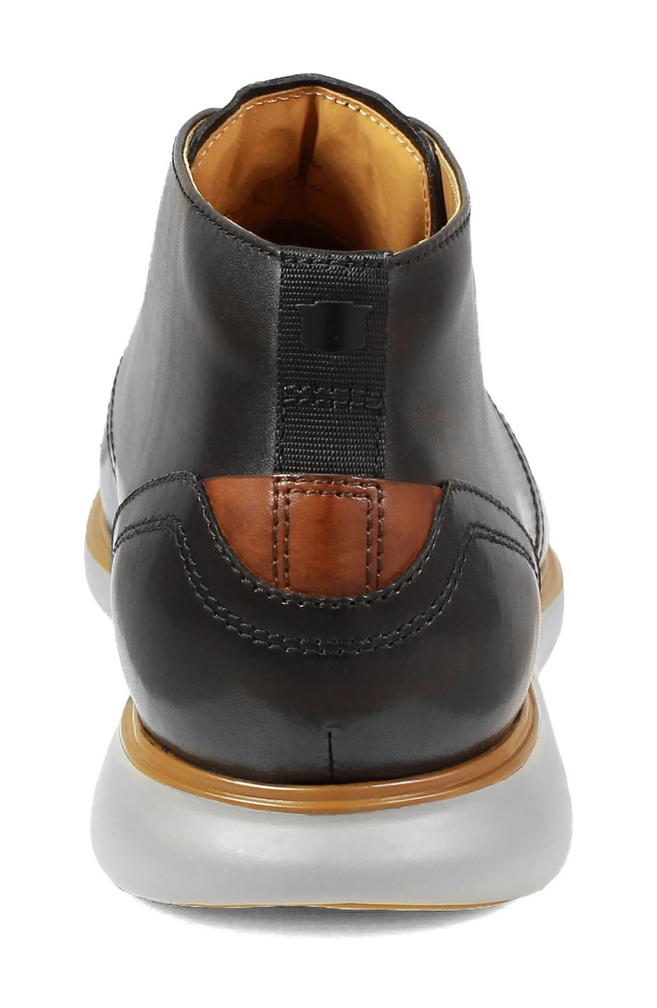 FLORSHEIM,                             Fuel Chukka Boot,                             Alternate thumbnail 7, color,                             BLACK LEATHER