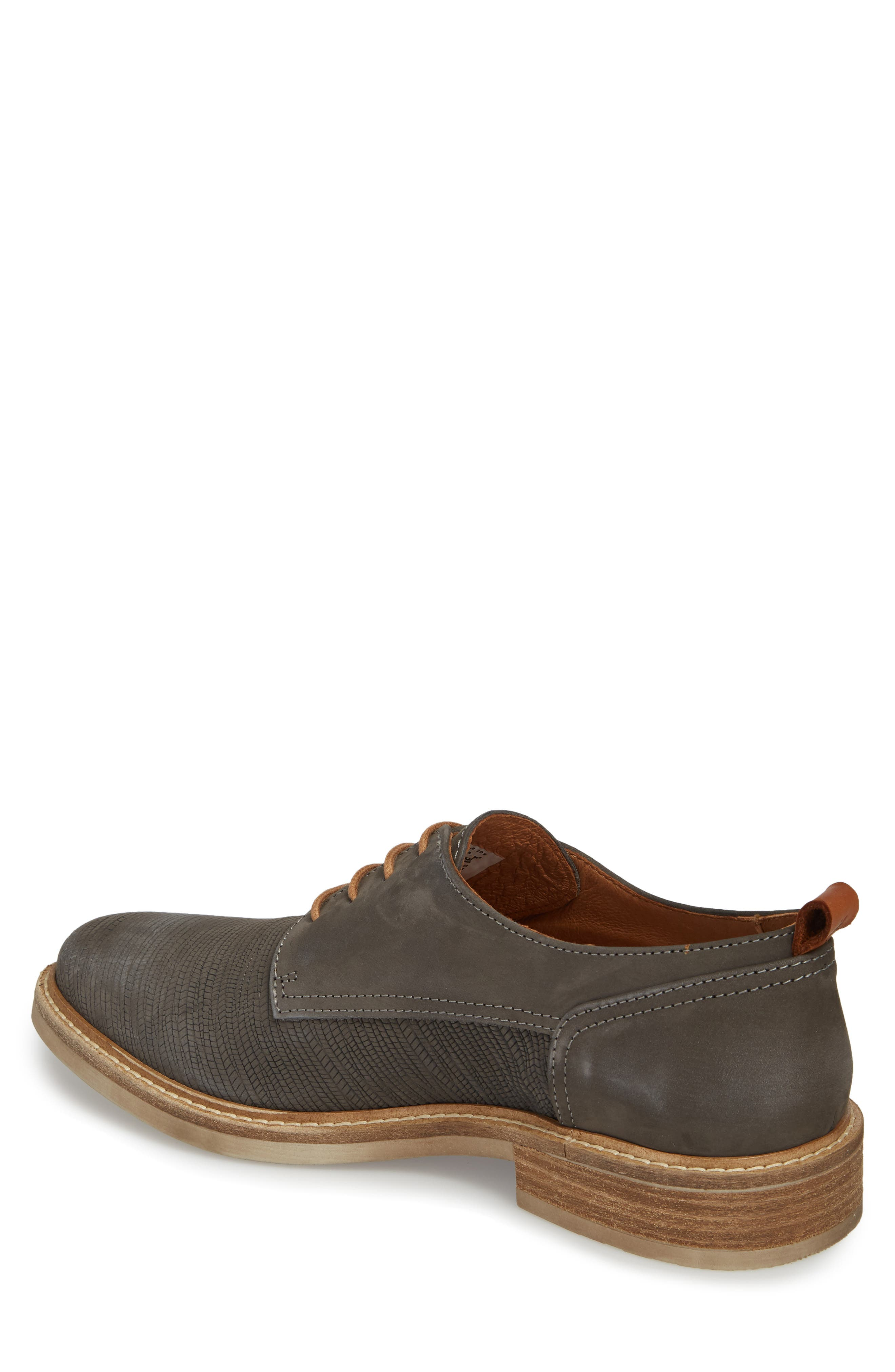 River Cafe Embossed Plain Toe Derby,                             Alternate thumbnail 2, color,                             ANTHRACITE