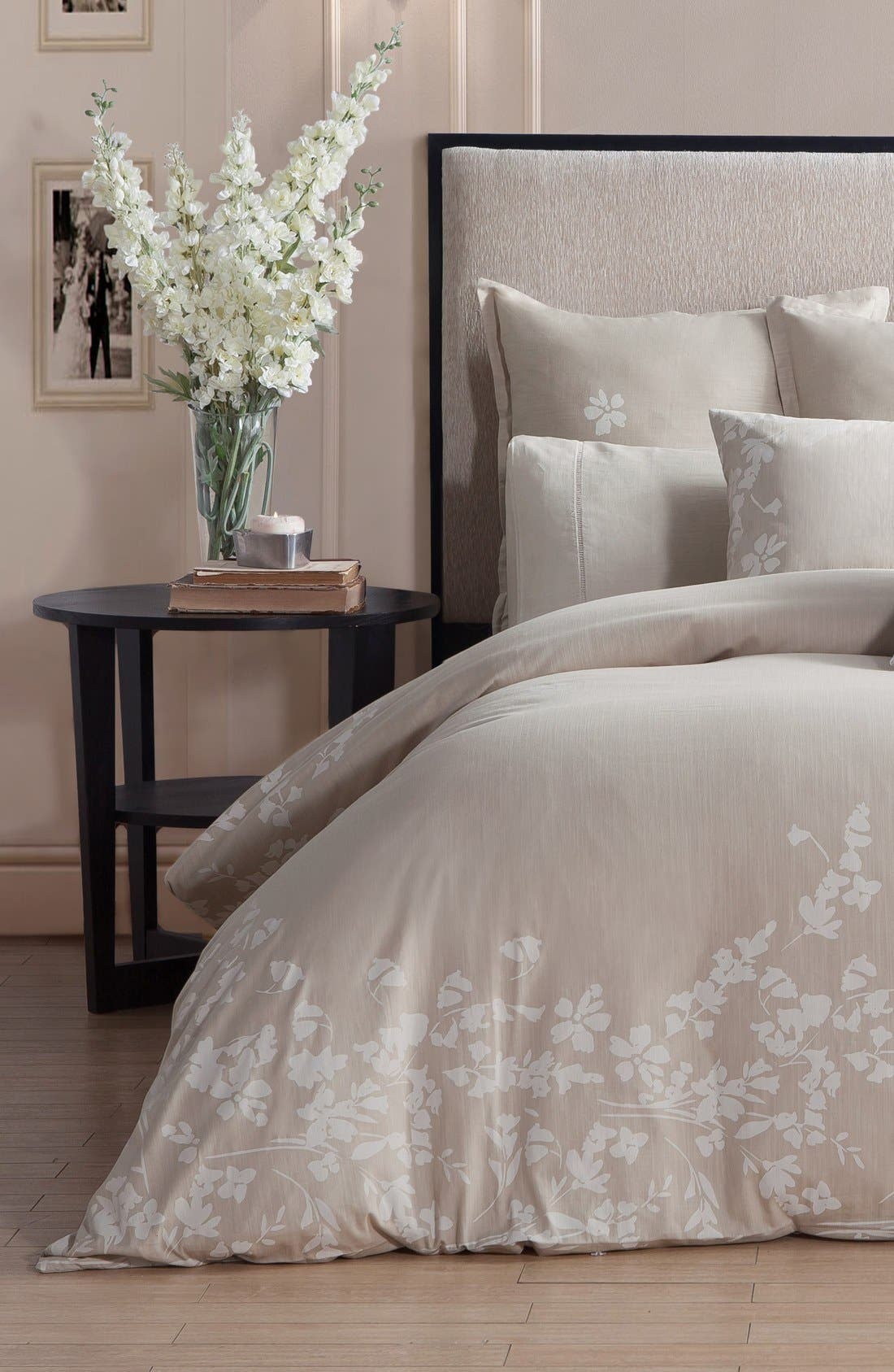 Laramie Duvet Cover & Sham Set,                             Alternate thumbnail 3, color,                             BEIGE