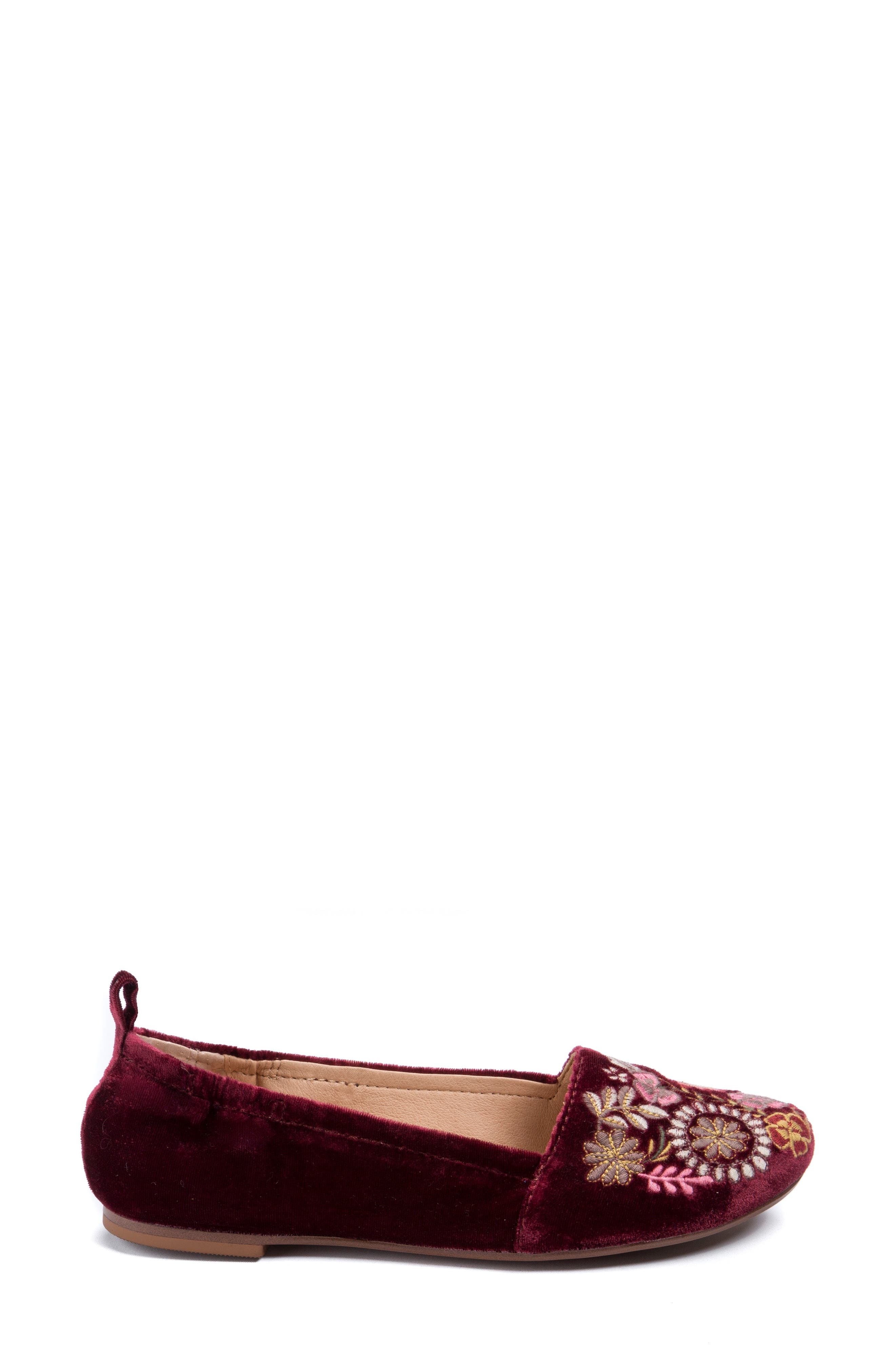 Gayla Floral Embroidered Flat,                             Alternate thumbnail 8, color,