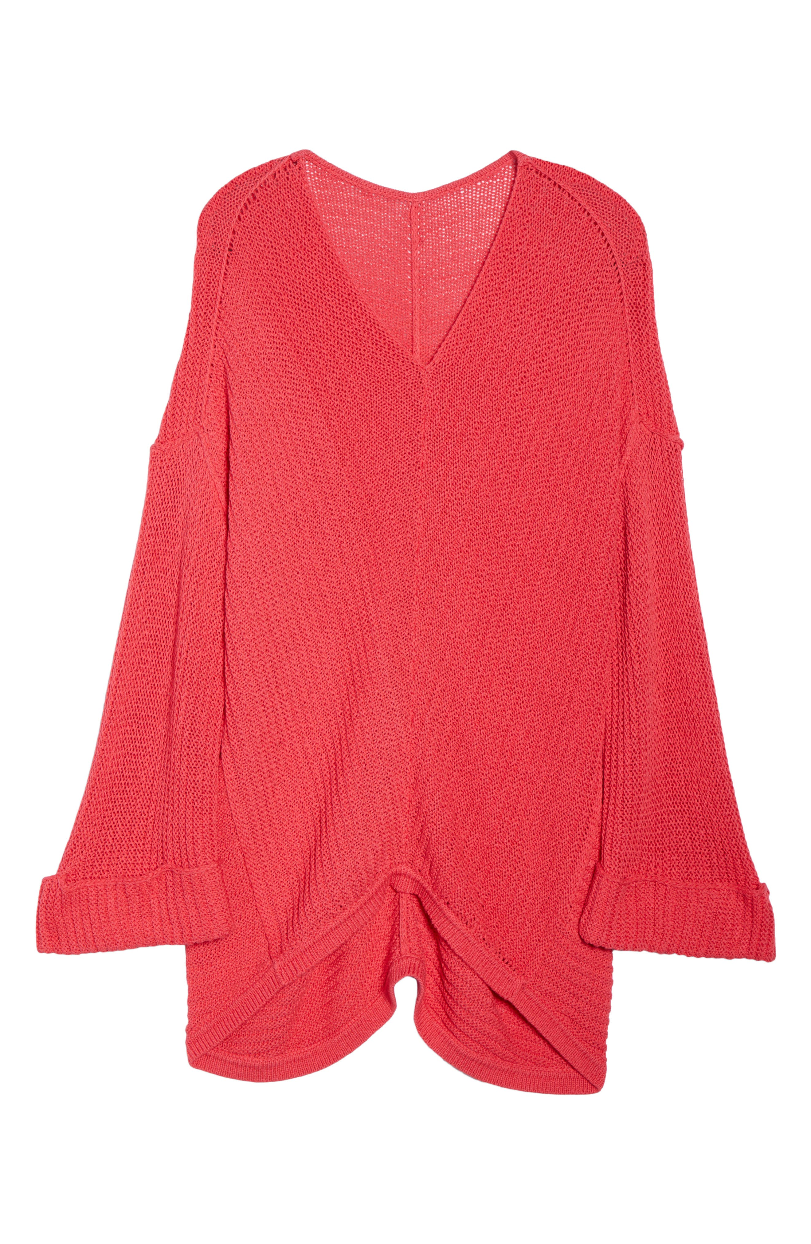 Cuffed Bell Sleeve Sweater,                             Alternate thumbnail 18, color,