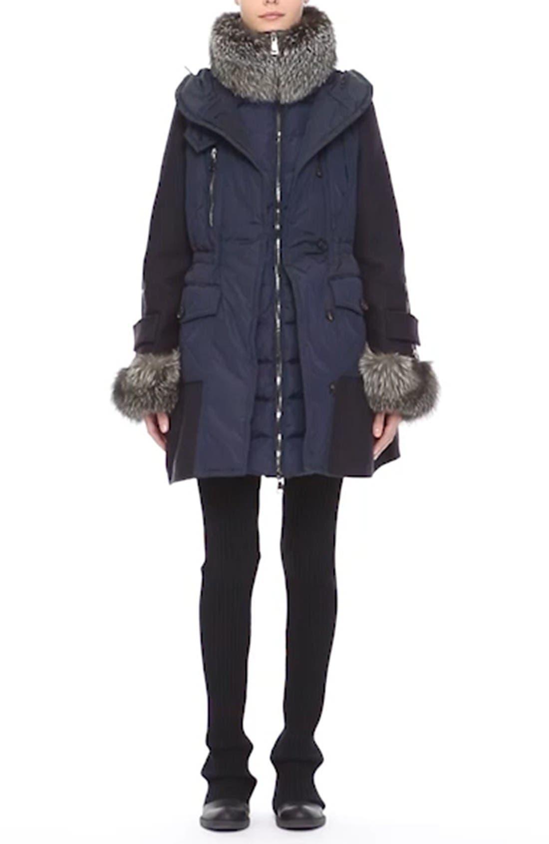 'Elestoria' Two-Piece Down Puffer Coat with Genuine Fox Fur Trim,                             Alternate thumbnail 8, color,                             419