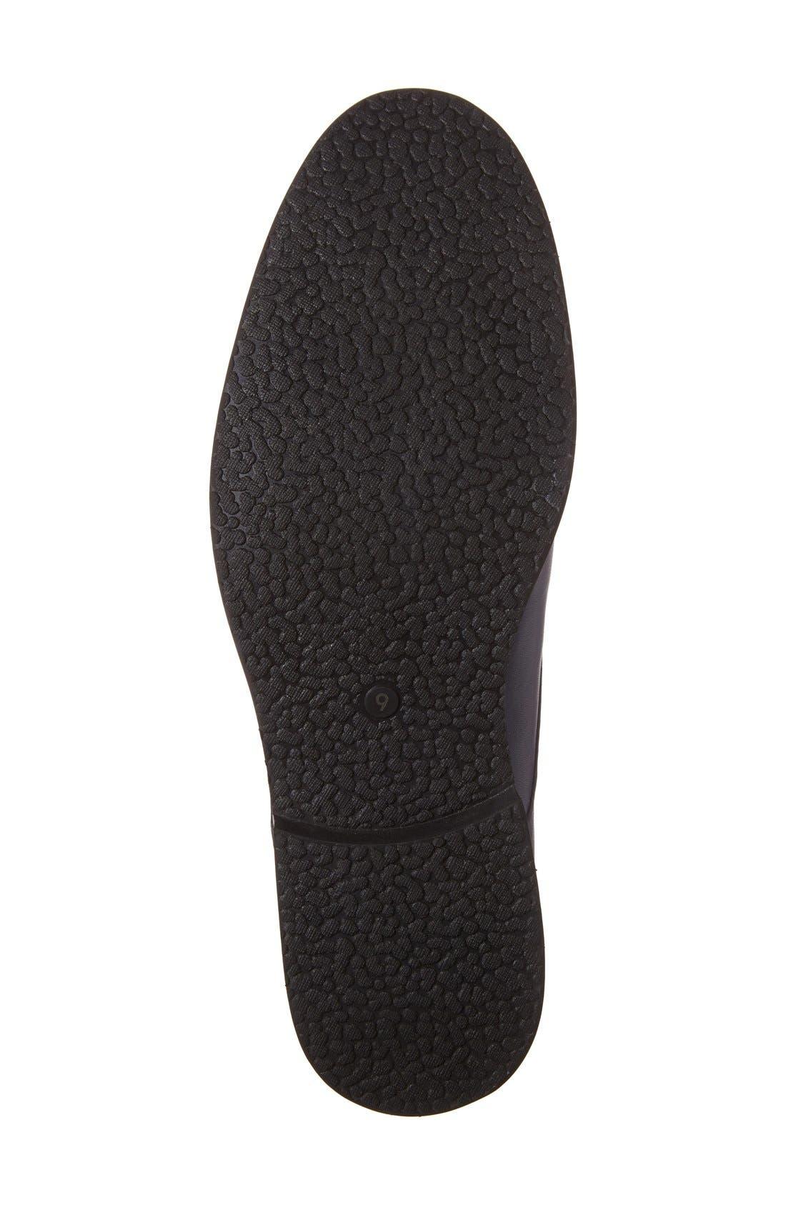 'Nereto' Plain Toe Boot,                             Alternate thumbnail 4, color,                             NAVY