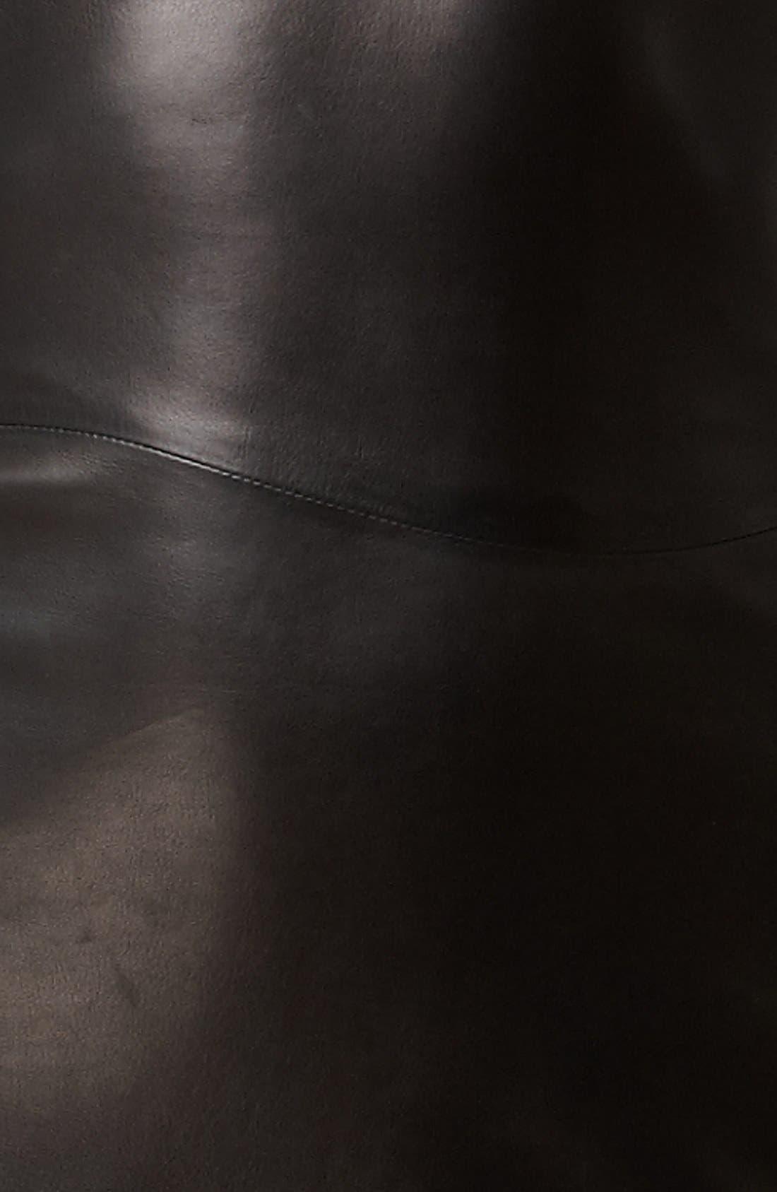 Flounce Leather Dress,                             Alternate thumbnail 2, color,                             001