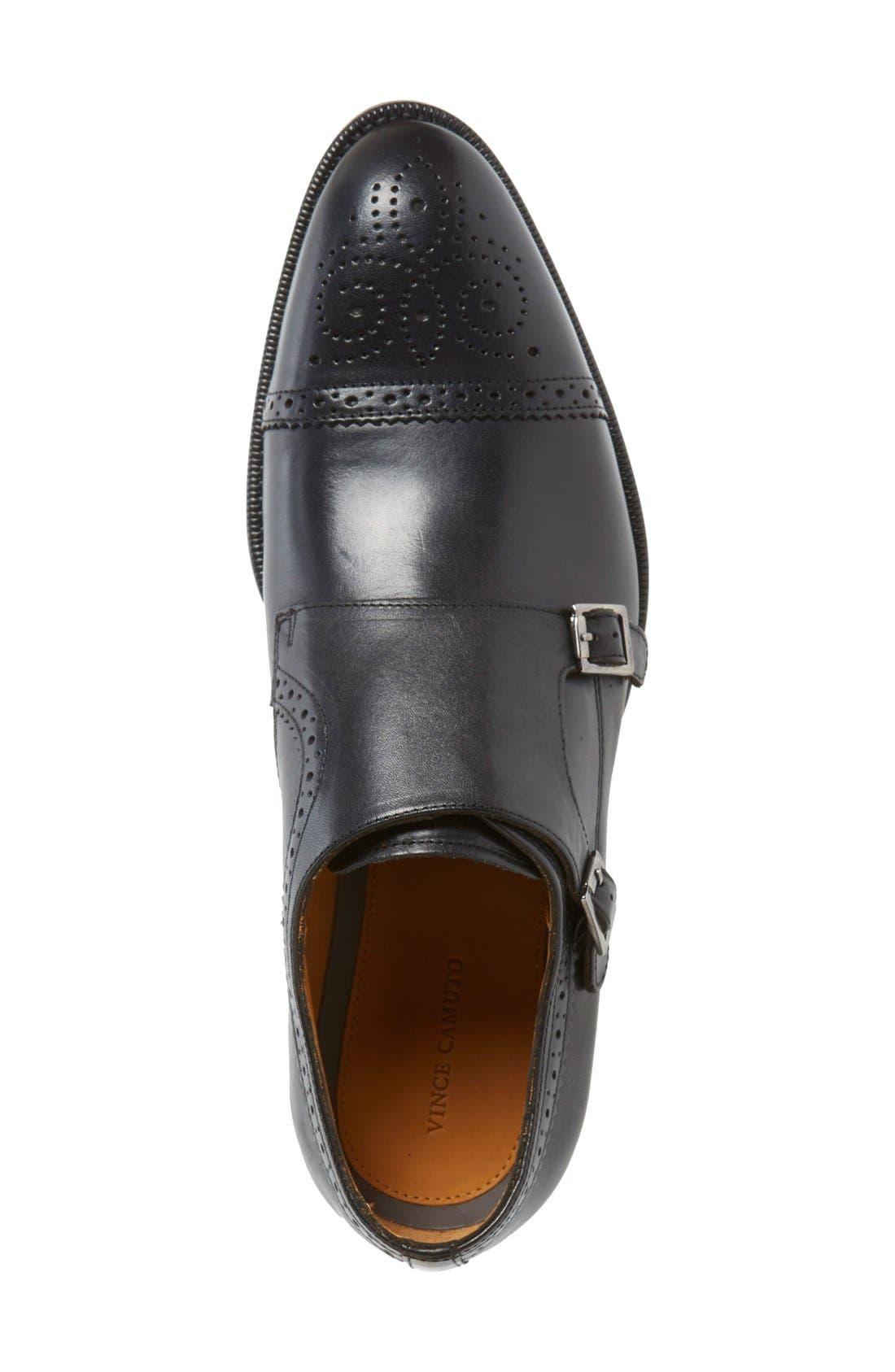 'Briant' Double Monk Strap Shoe,                             Alternate thumbnail 8, color,