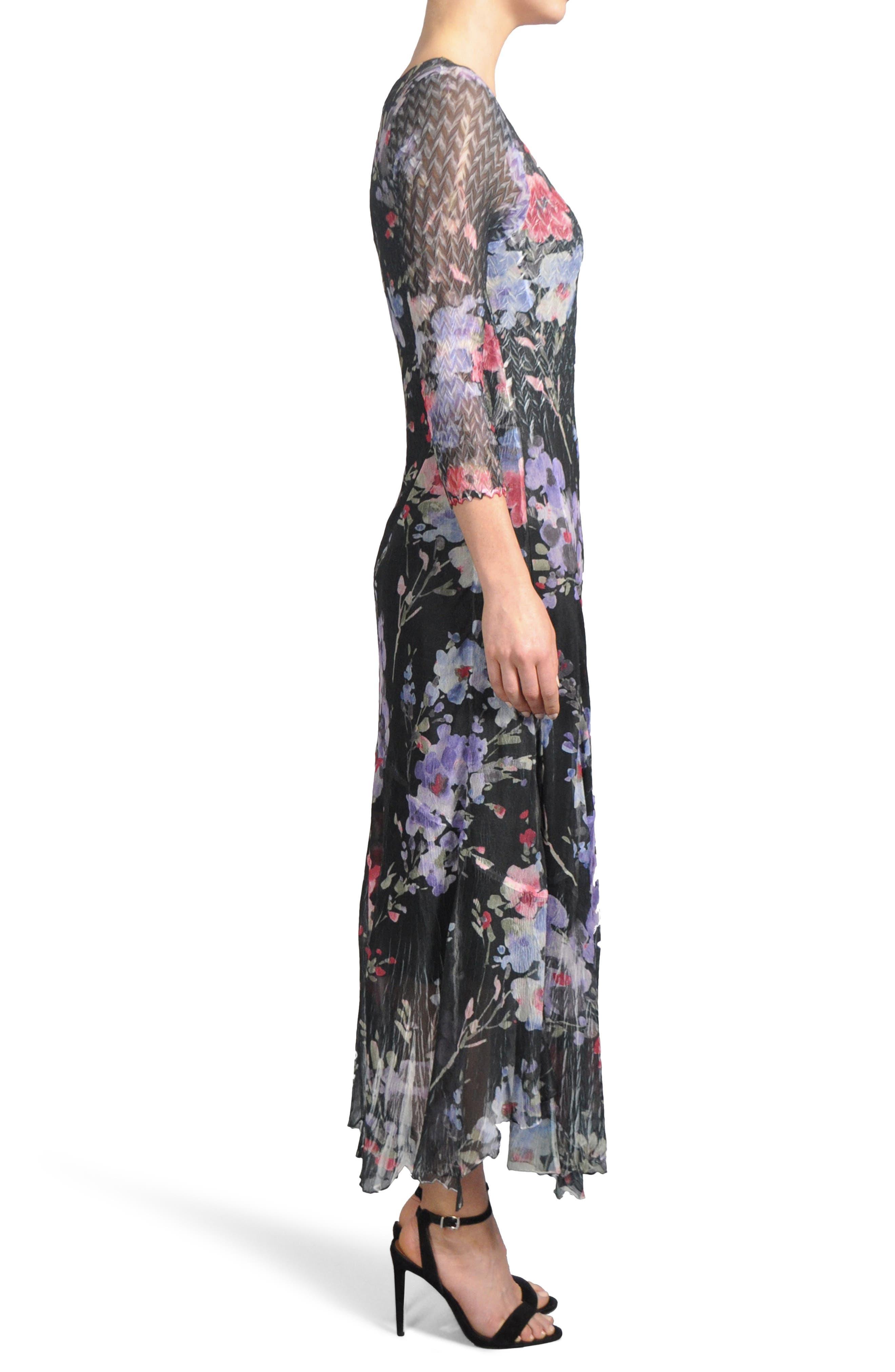 Print A-Line Dress,                             Alternate thumbnail 3, color,