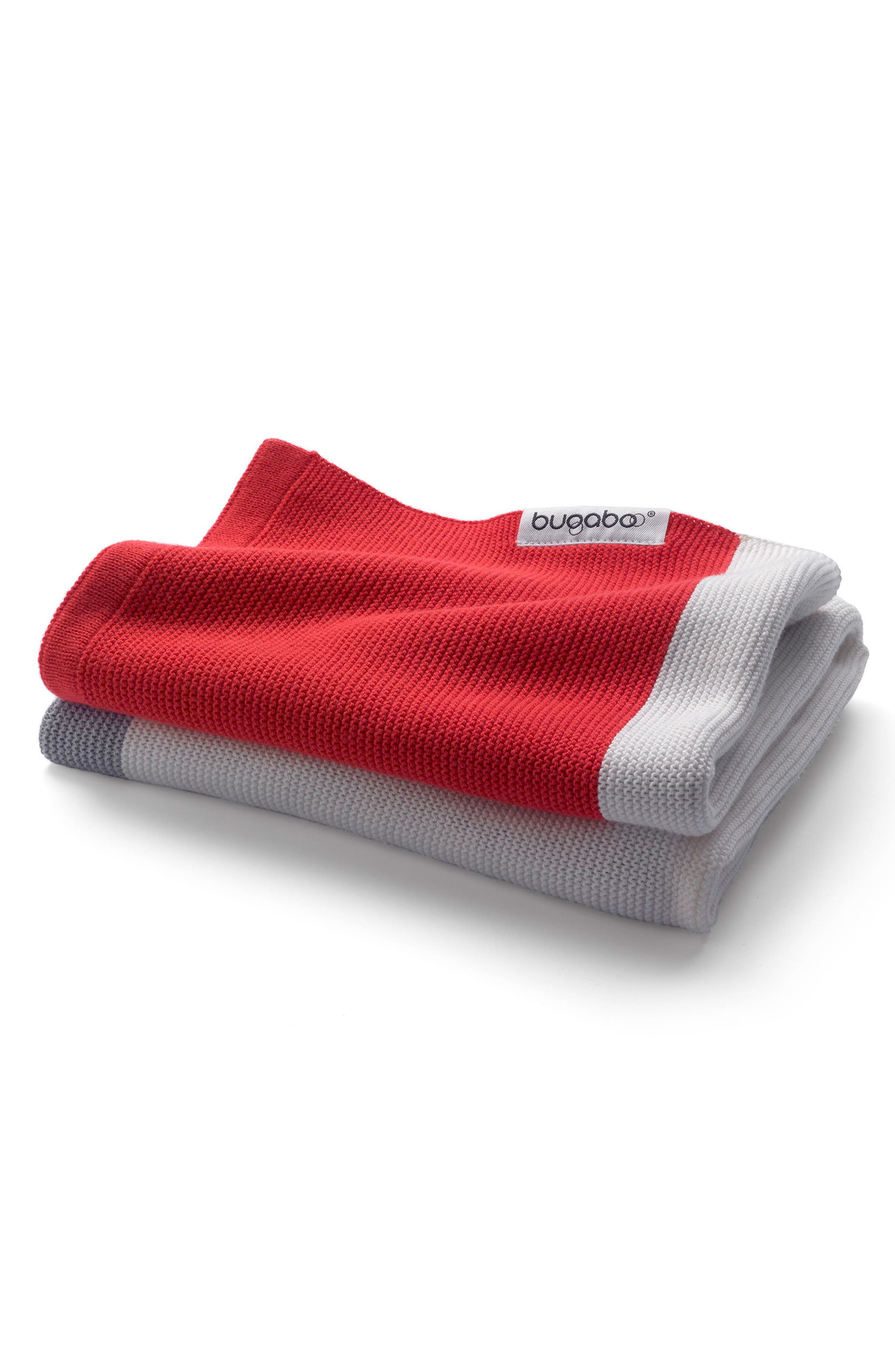 Light Cotton Blanket,                             Main thumbnail 1, color,                             NEON RED