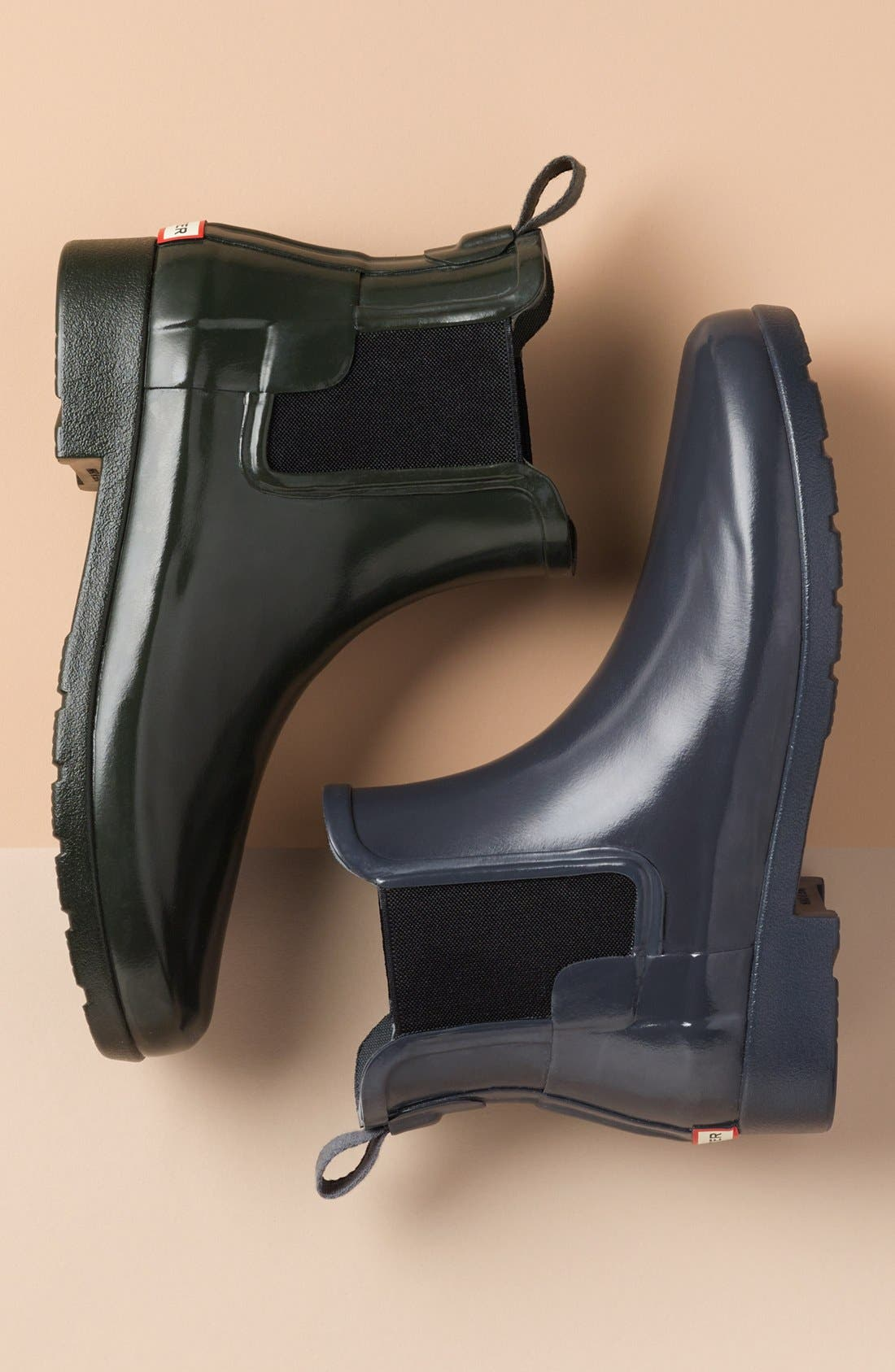 HUNTER,                             Original Refined Chelsea Waterproof Rain Boot,                             Alternate thumbnail 7, color,                             PARMA VIOLET