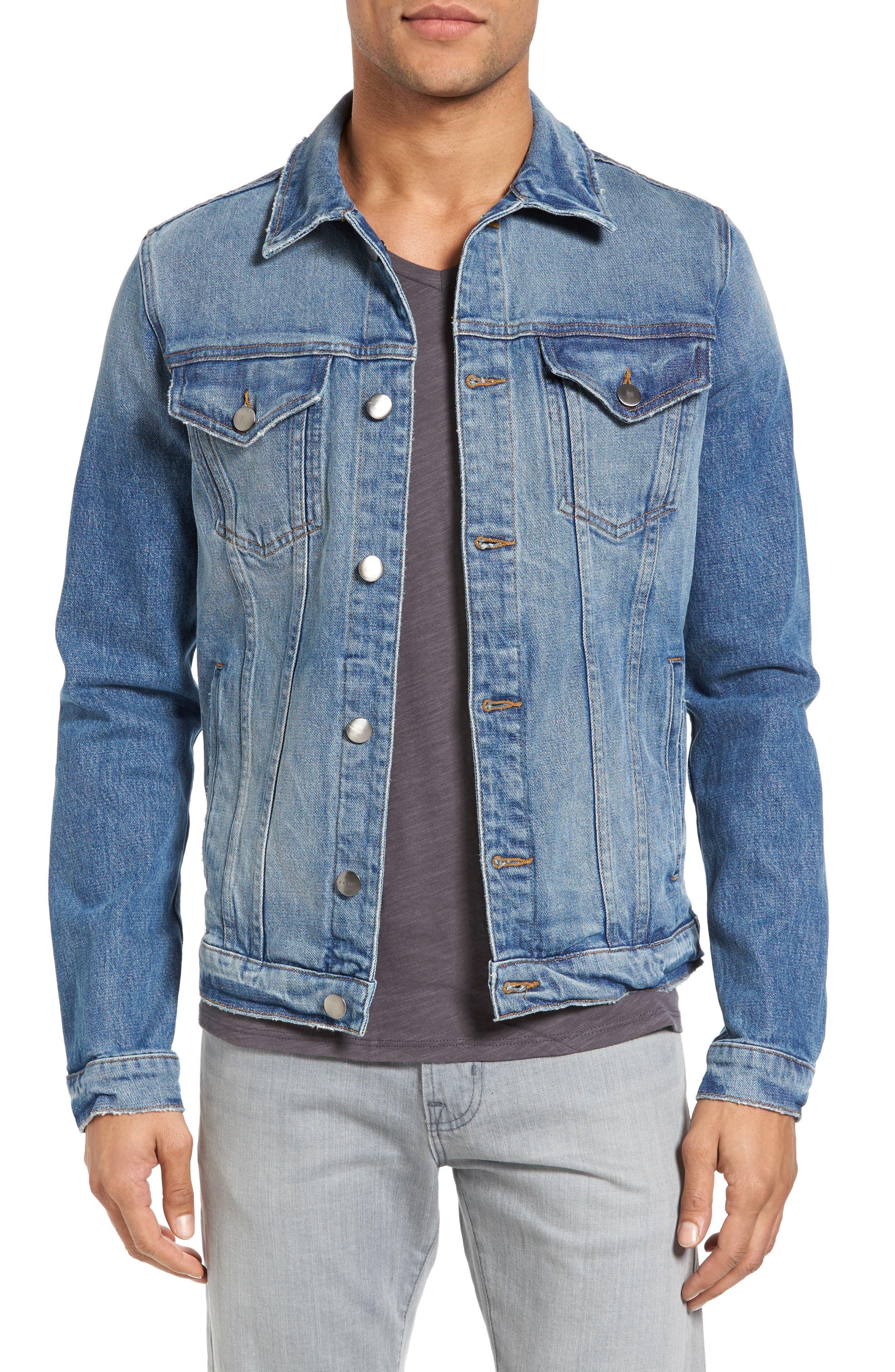 L'Homme Slim Denim Jacket,                             Main thumbnail 1, color,                             420