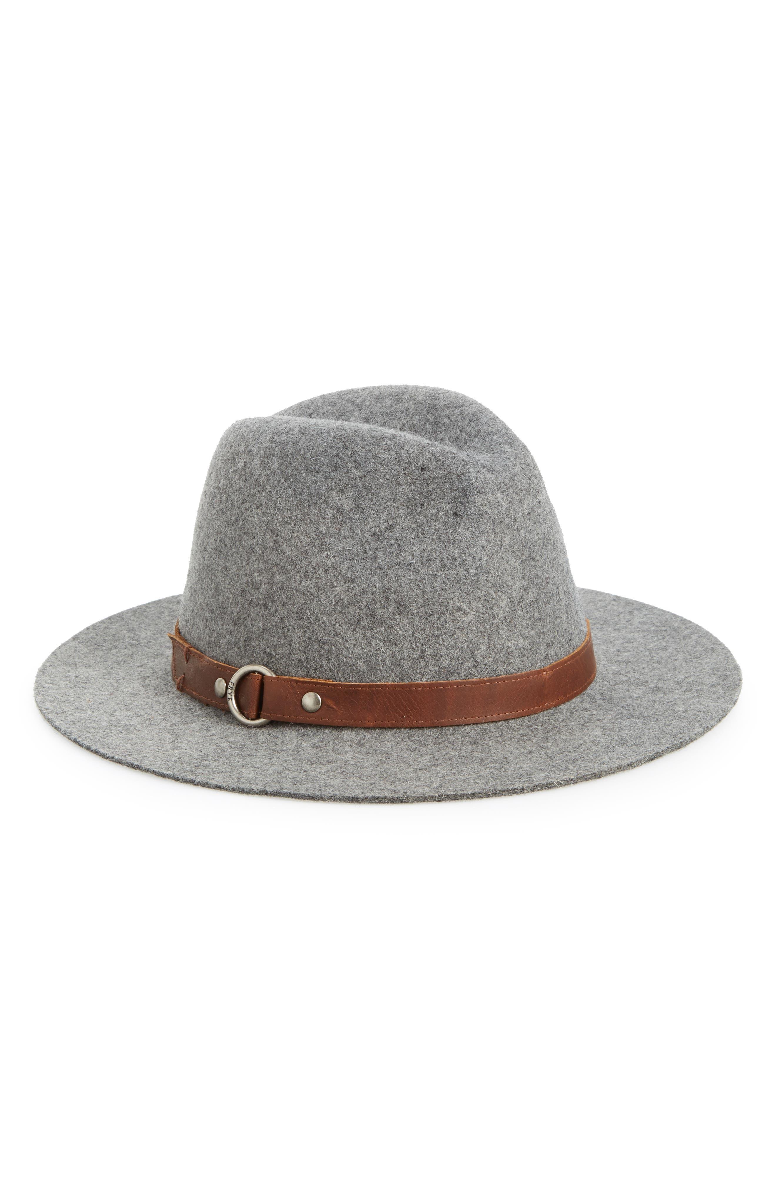 Harness Wool Felt Panama Hat,                             Main thumbnail 1, color,                             GRAY
