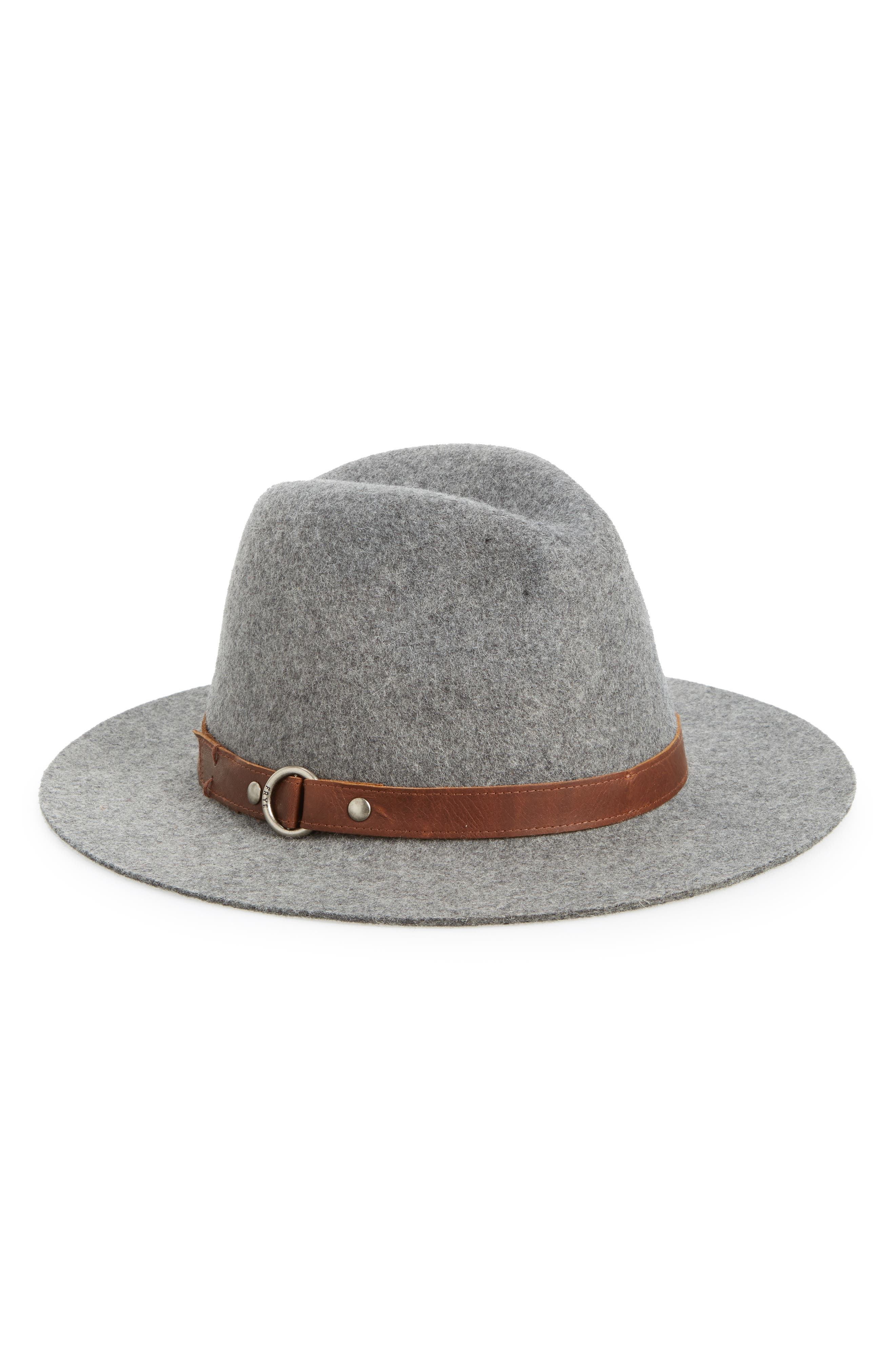 Harness Wool Felt Panama Hat,                         Main,                         color, GRAY