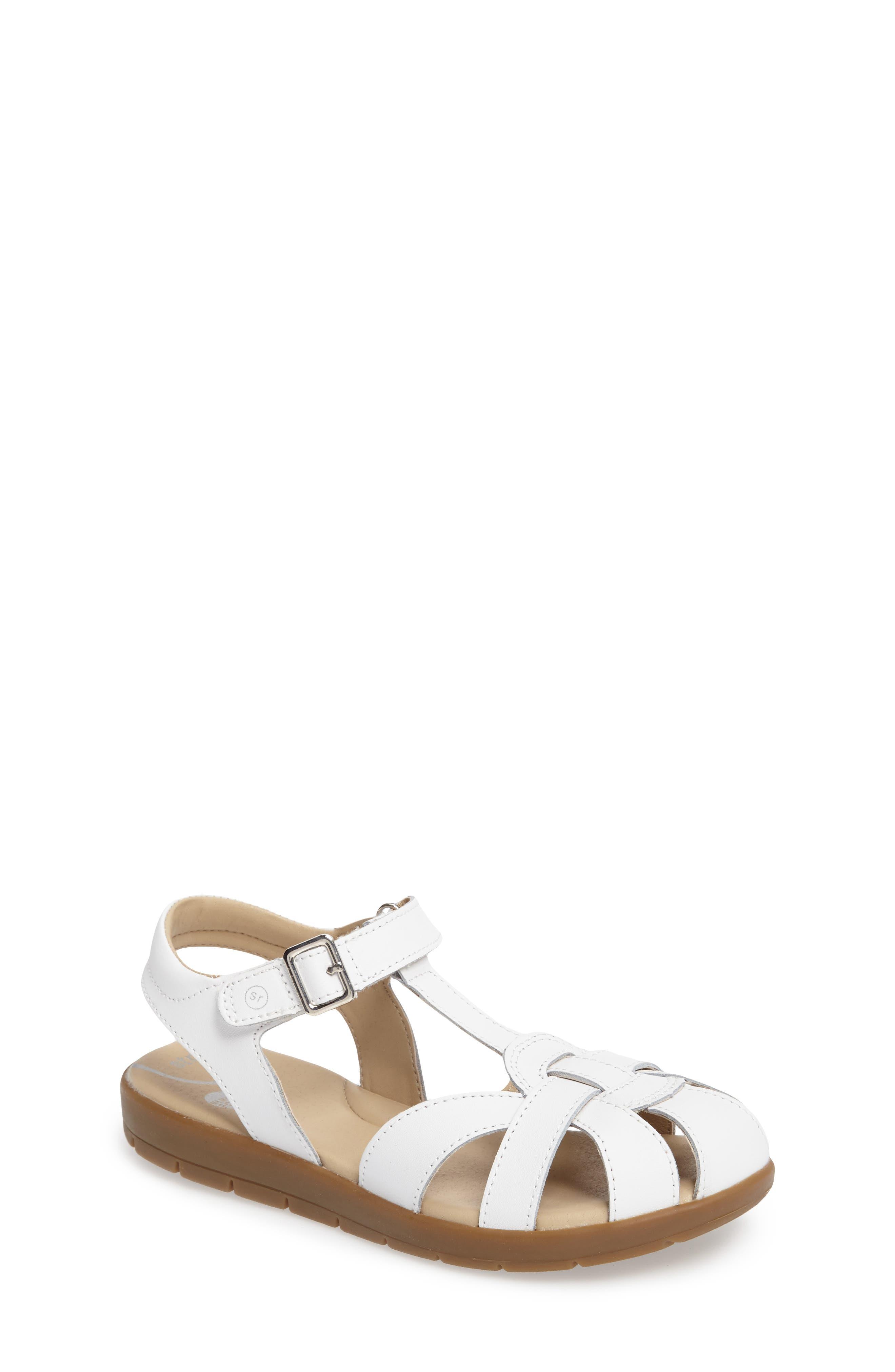 Summer Time Sandal,                         Main,                         color, WHITE
