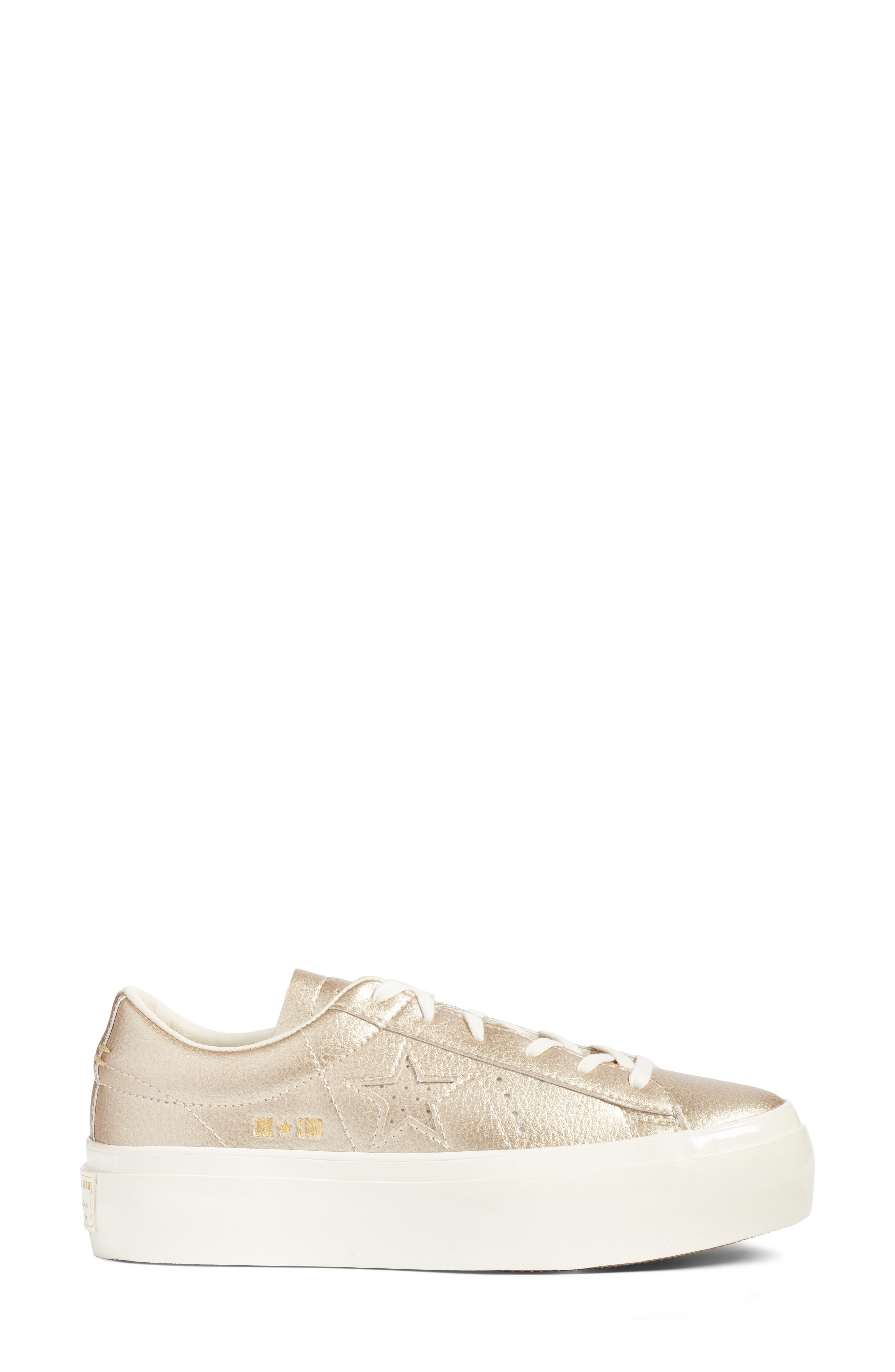 Chuck Taylor<sup>®</sup> All Star<sup>®</sup> One Star Metallic Platform Sneaker,                             Alternate thumbnail 3, color,