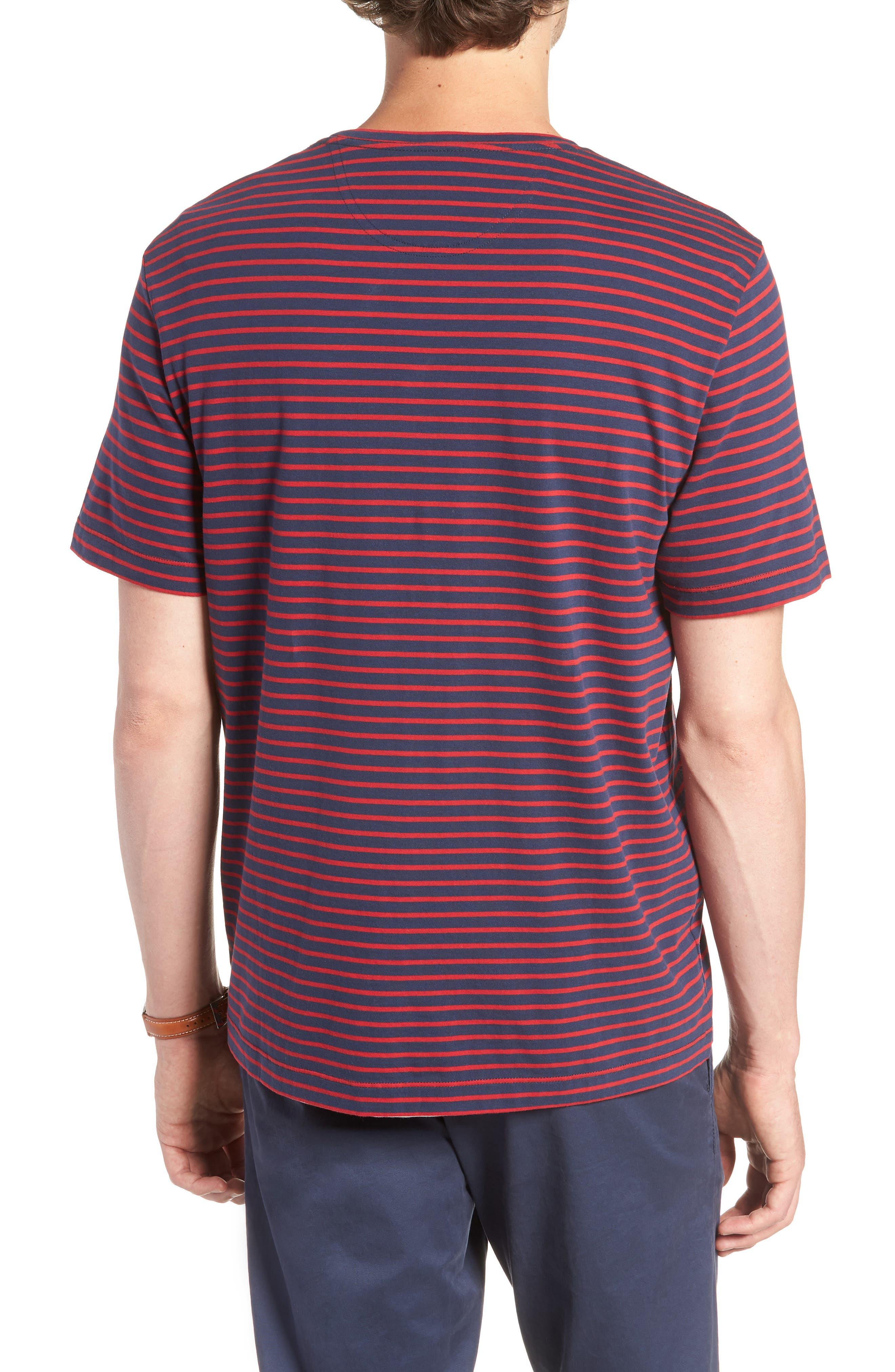 Stripe Brushed Pima Cotton T-Shirt,                             Alternate thumbnail 6, color,