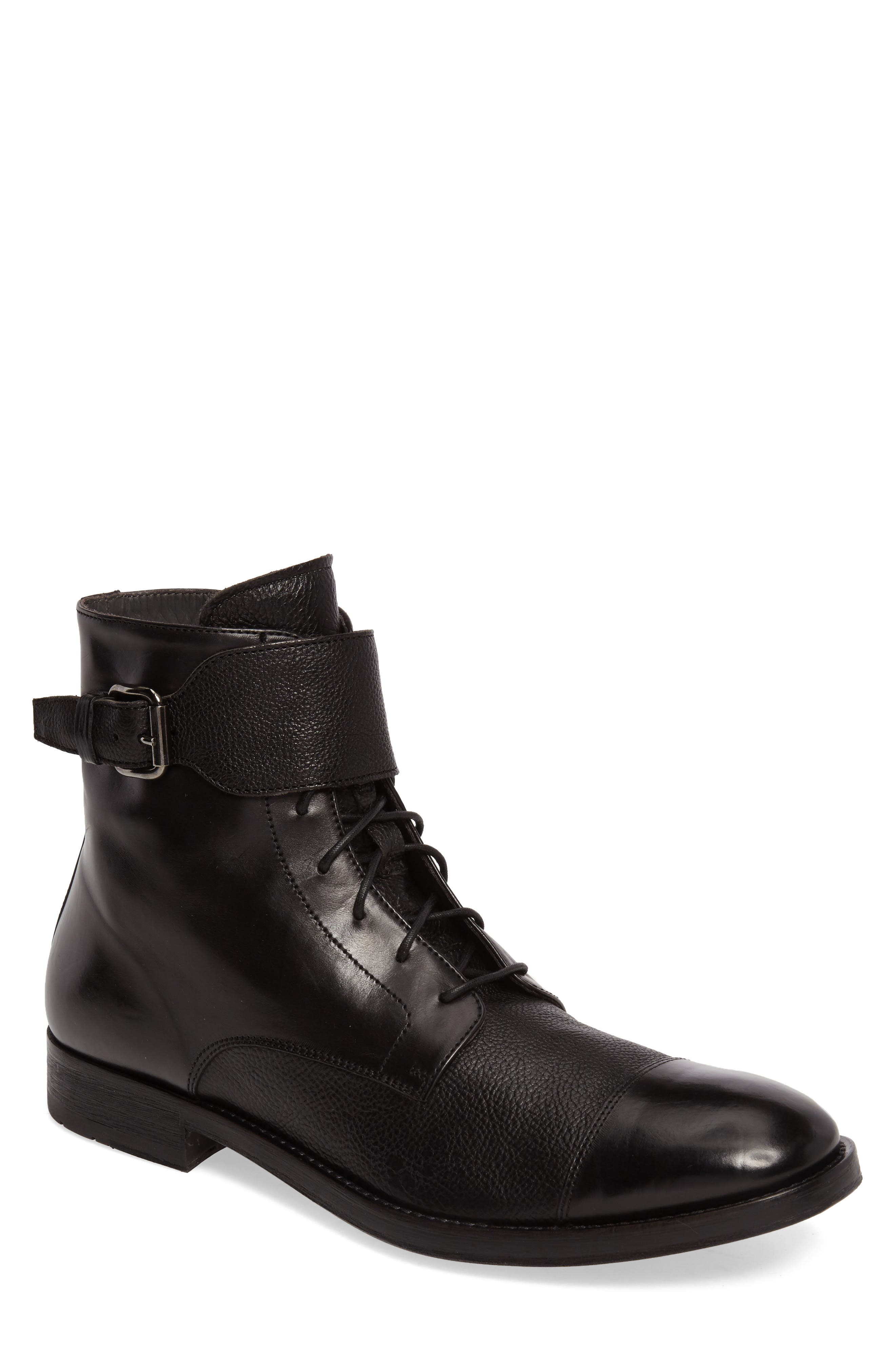 Flyboy Cap Toe Boot,                             Main thumbnail 1, color,                             001