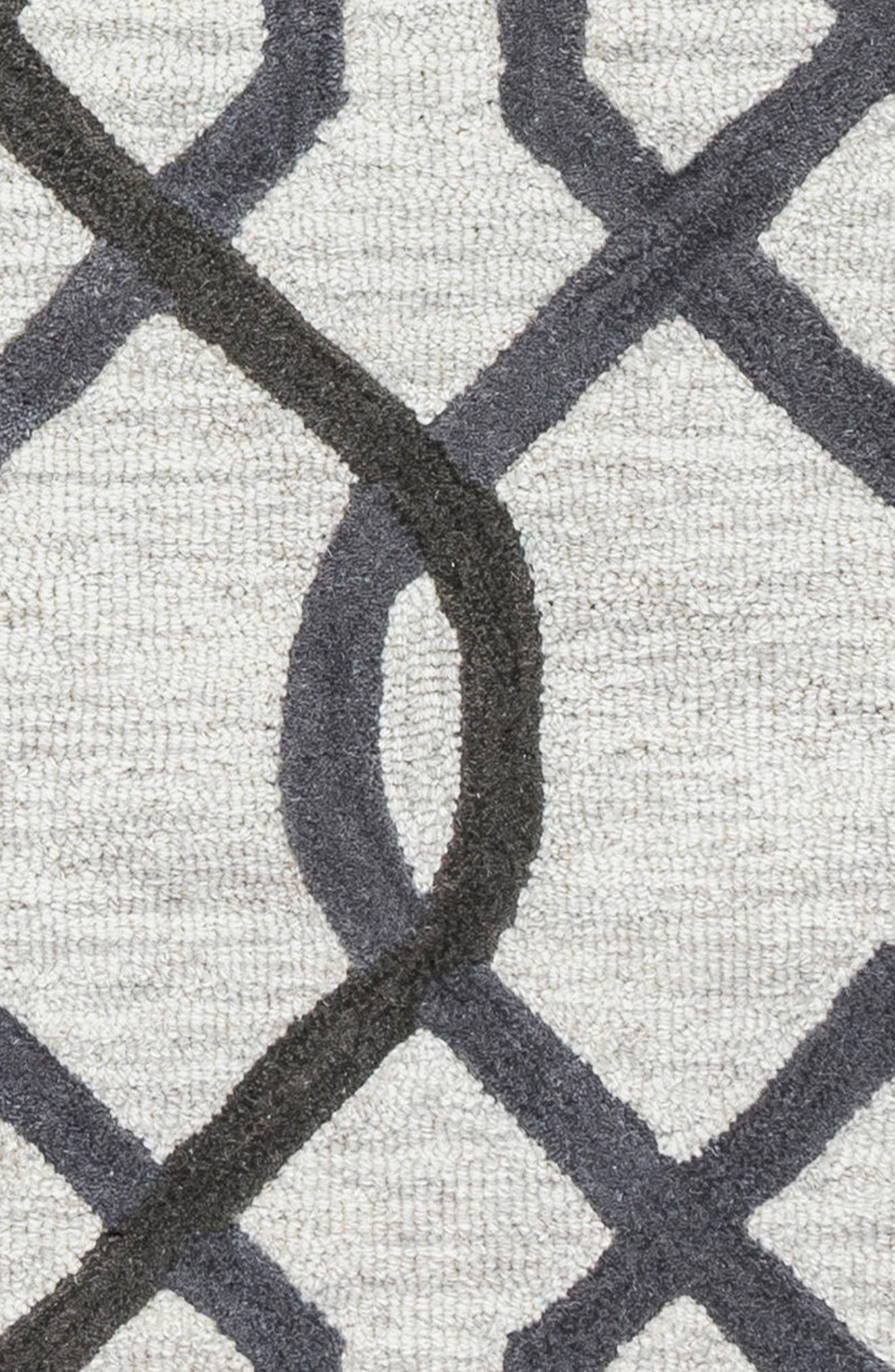 'Caterine Lines' Hand Tufted Wool Area Rug,                             Alternate thumbnail 5, color,                             020