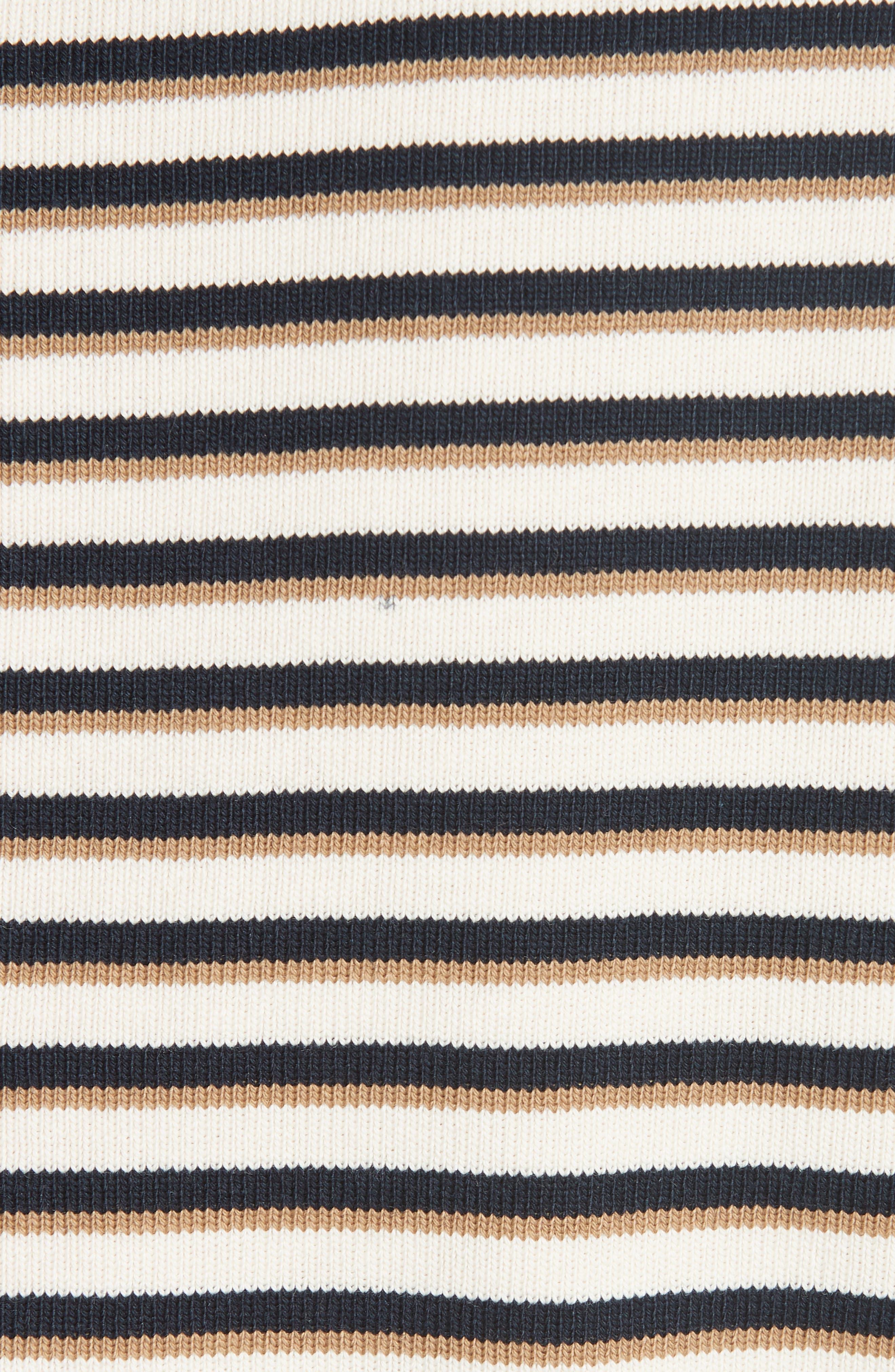 Stripe Top,                             Alternate thumbnail 5, color,                             WHITE - BEIGE 1
