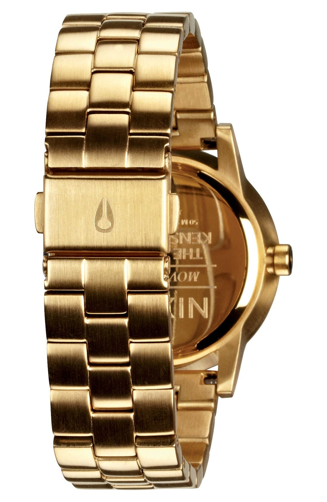 'The Kensington' Bracelet Watch, 37mm,                             Alternate thumbnail 3, color,                             GOLD/ WHITE