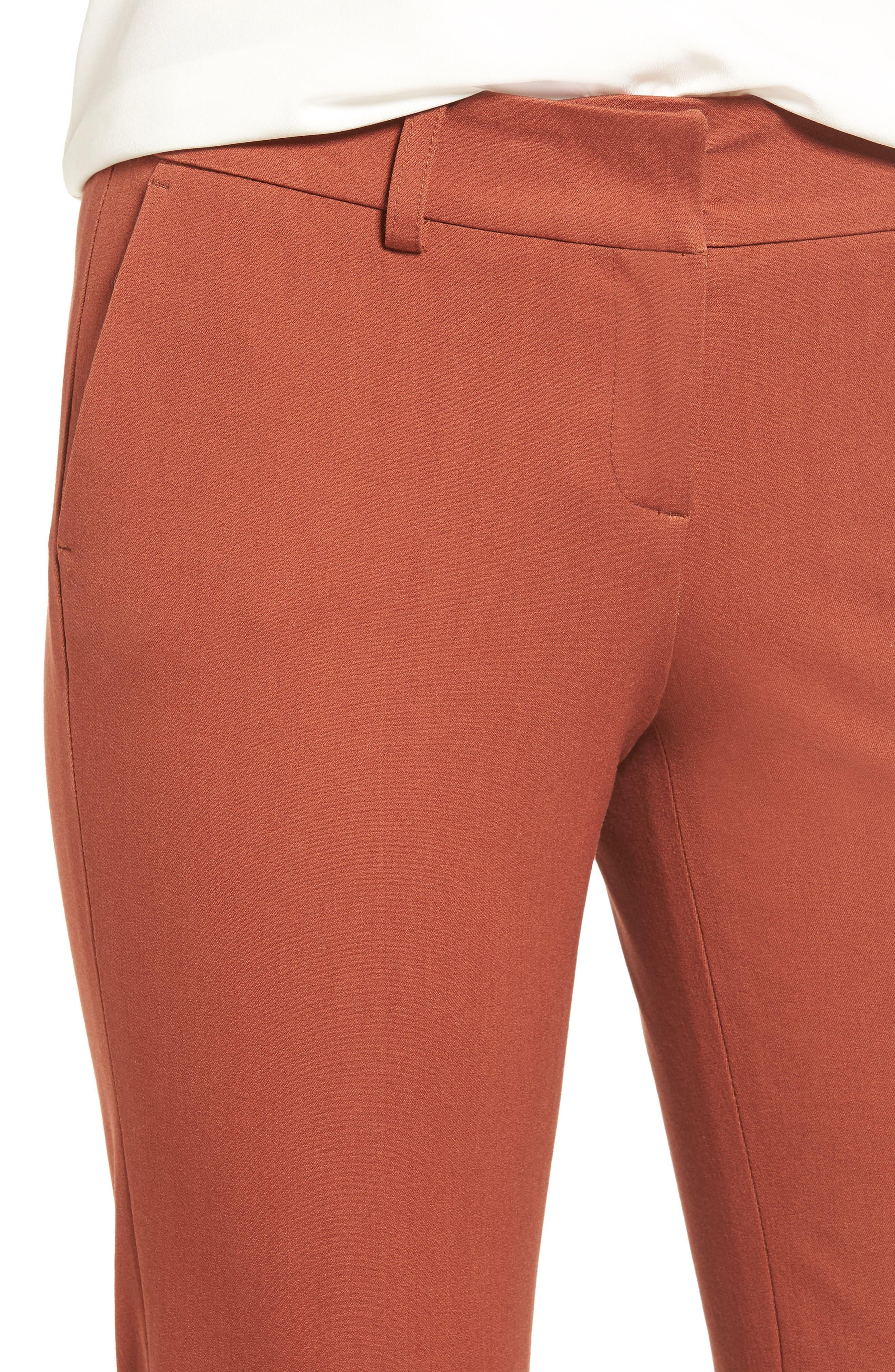 Crop Stretch Cotton Pants,                             Alternate thumbnail 75, color,