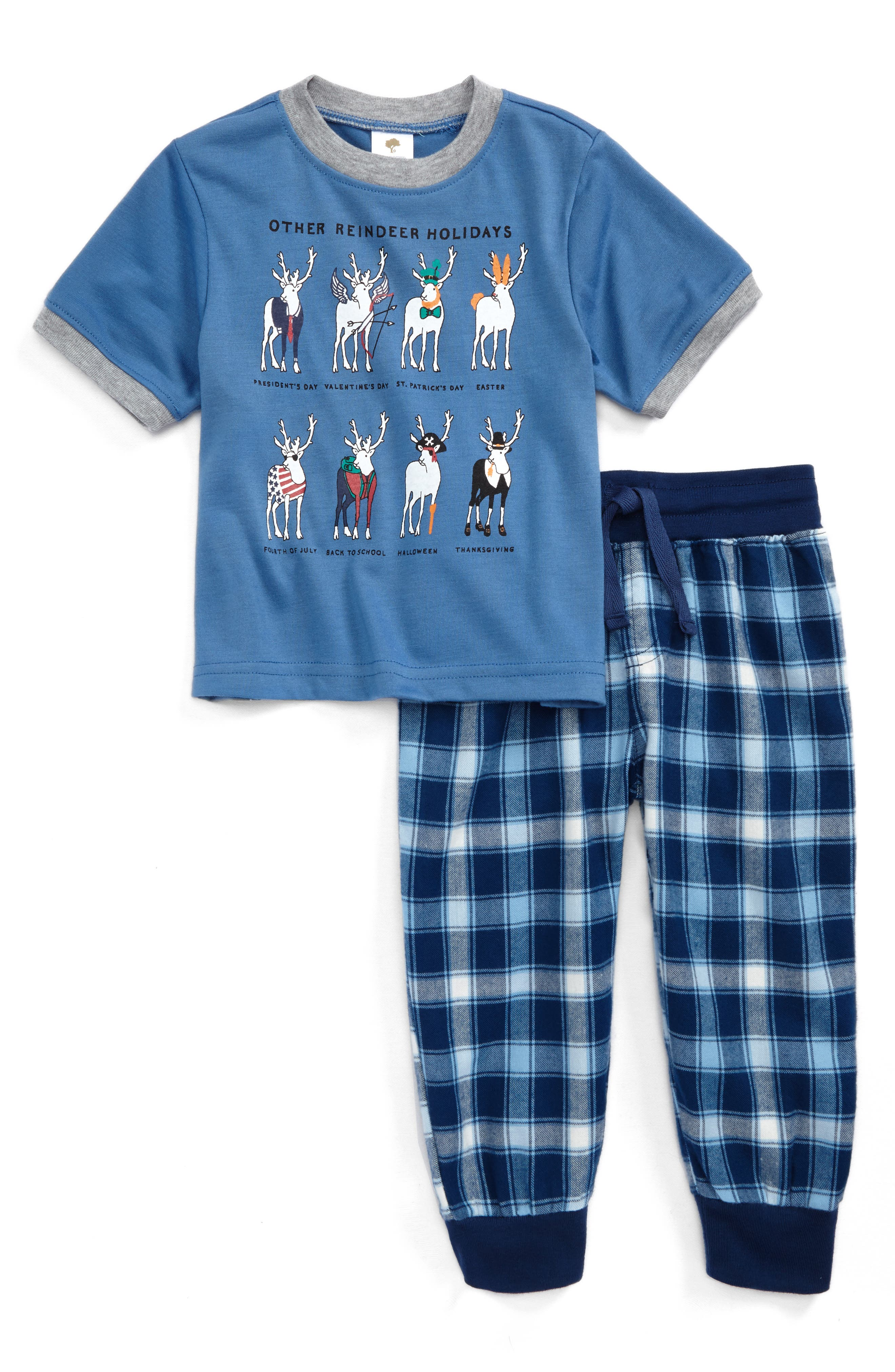 Graphic Two-Piece Pajamas Set,                             Main thumbnail 2, color,