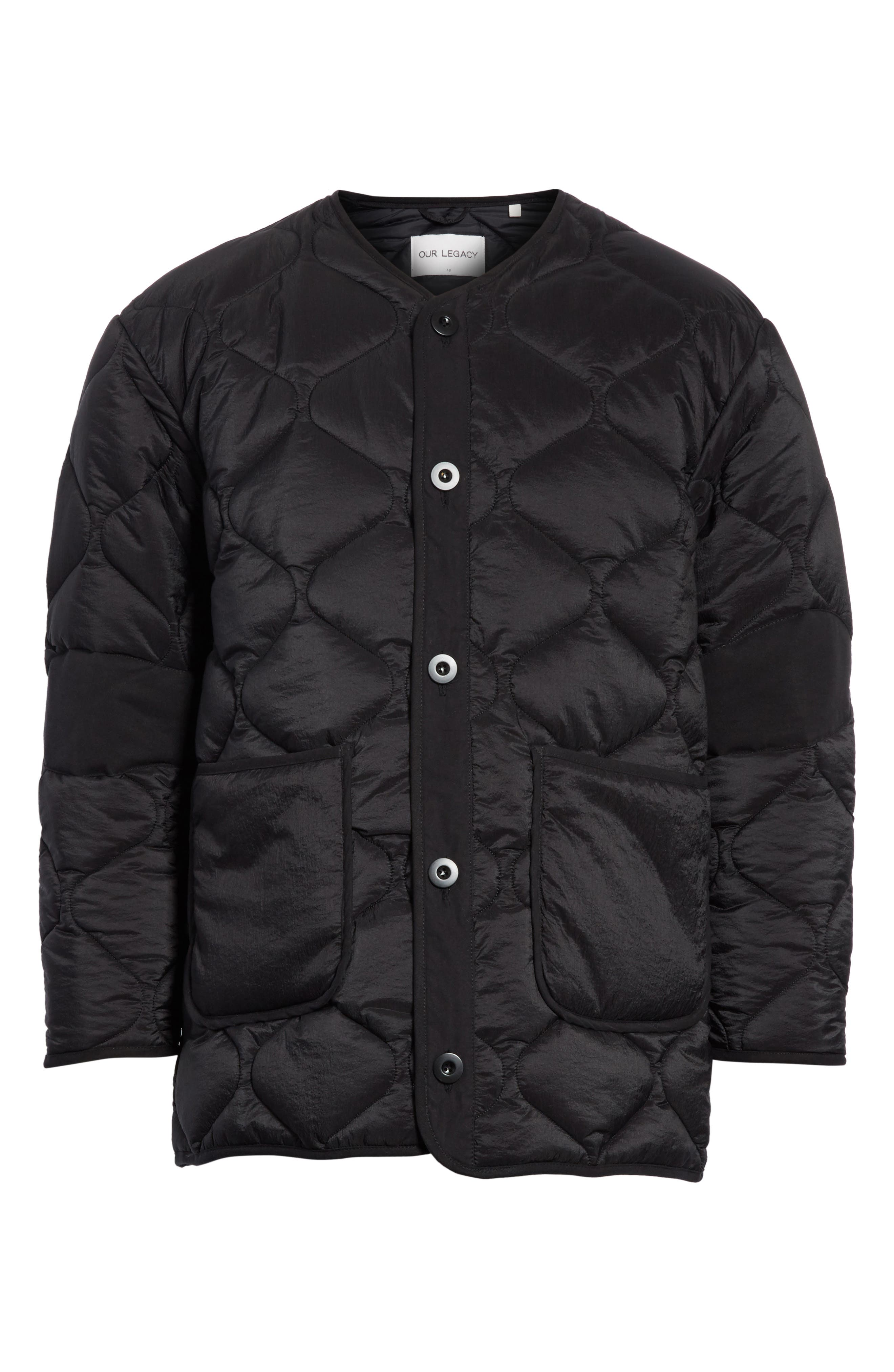 Quilted Liner Parachute Jacket,                             Alternate thumbnail 5, color,                             001